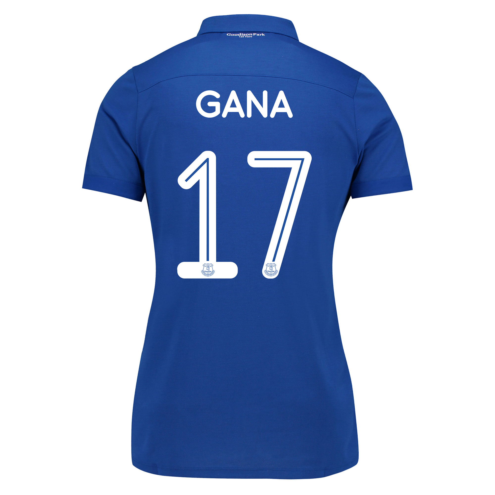 Image of Everton Commemorative Shirt - Womens with Gana 17 printing
