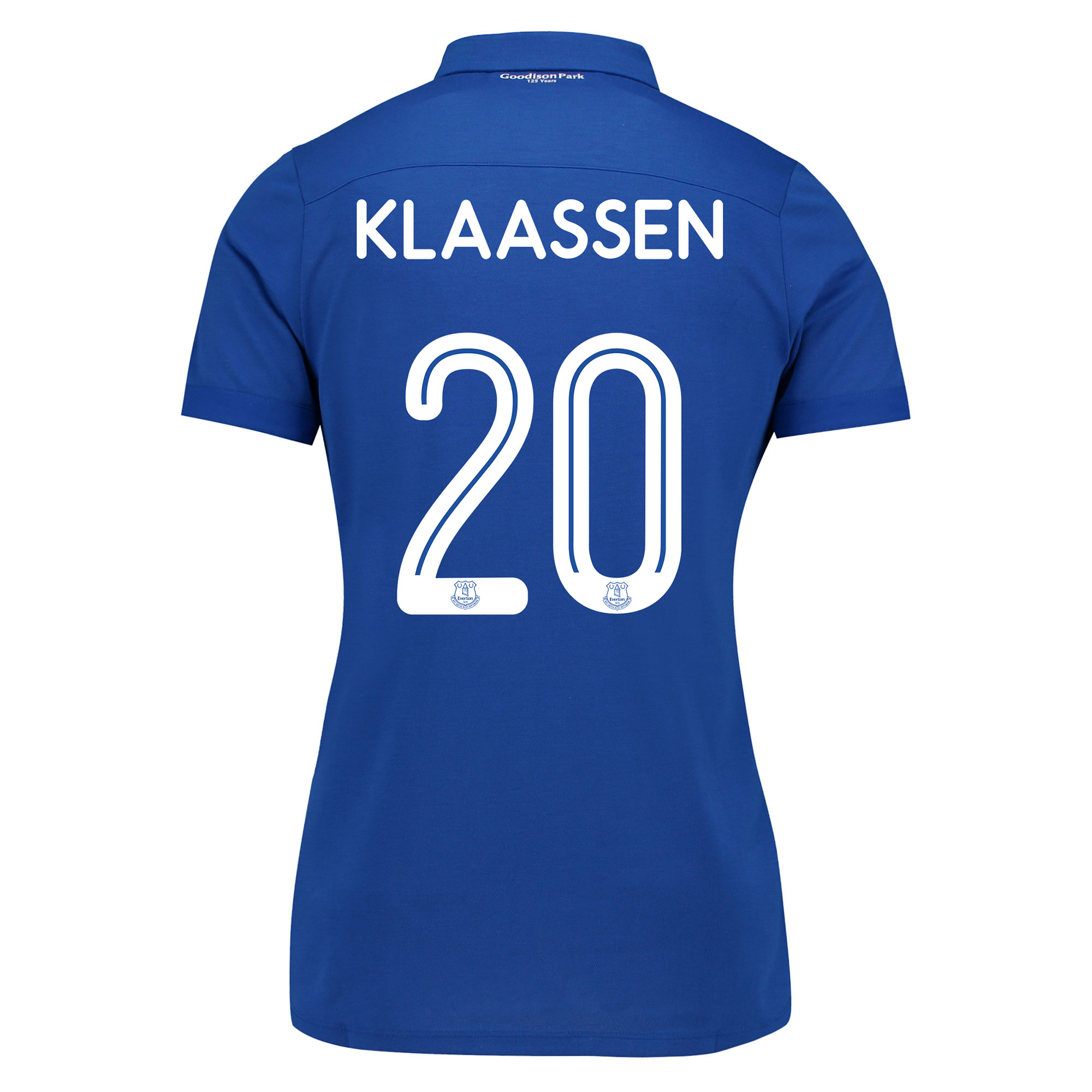 Image of Everton Commemorative Shirt - Womens with Klaassen 20 printing