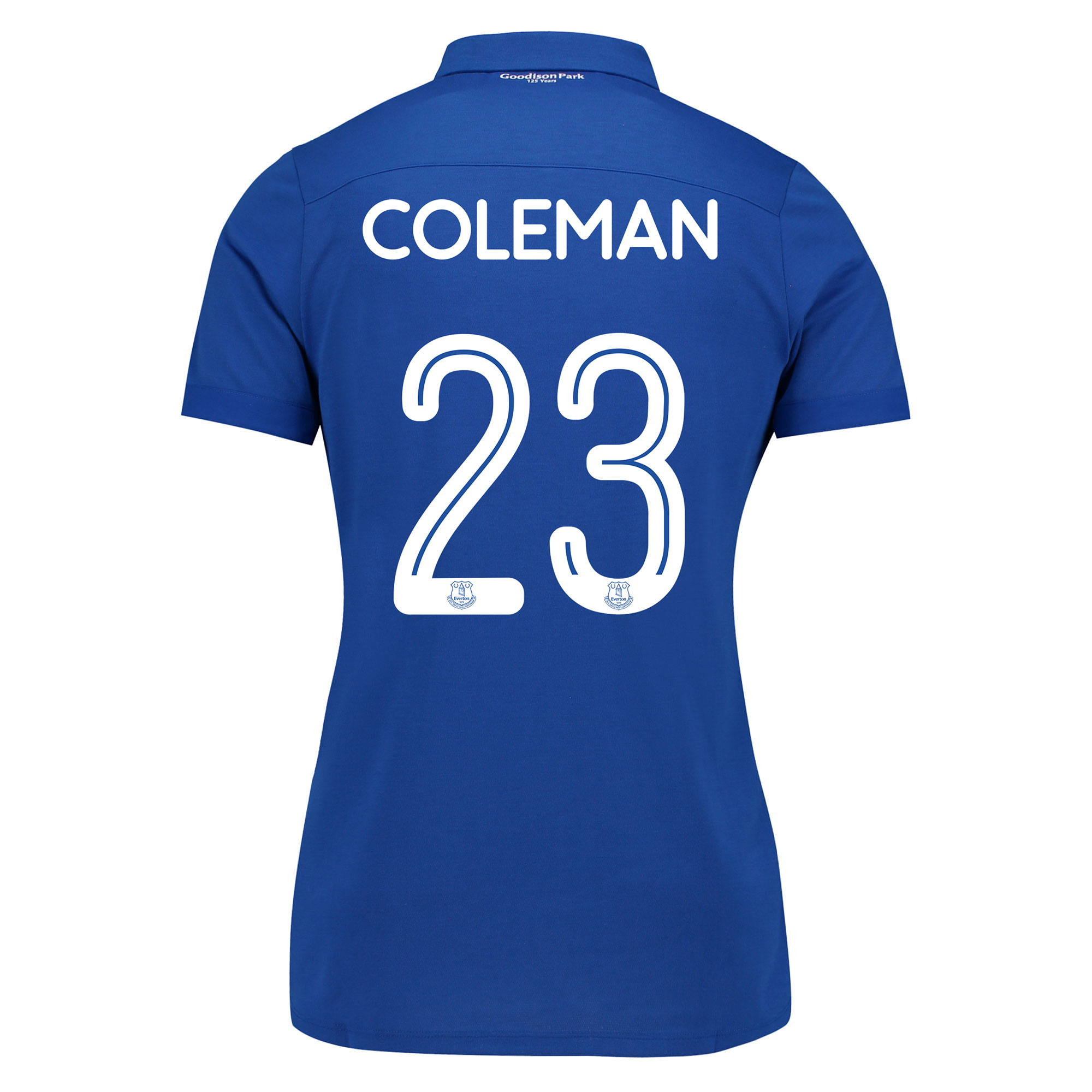 Everton Commemorative Shirt - Womens with Coleman 23 printing
