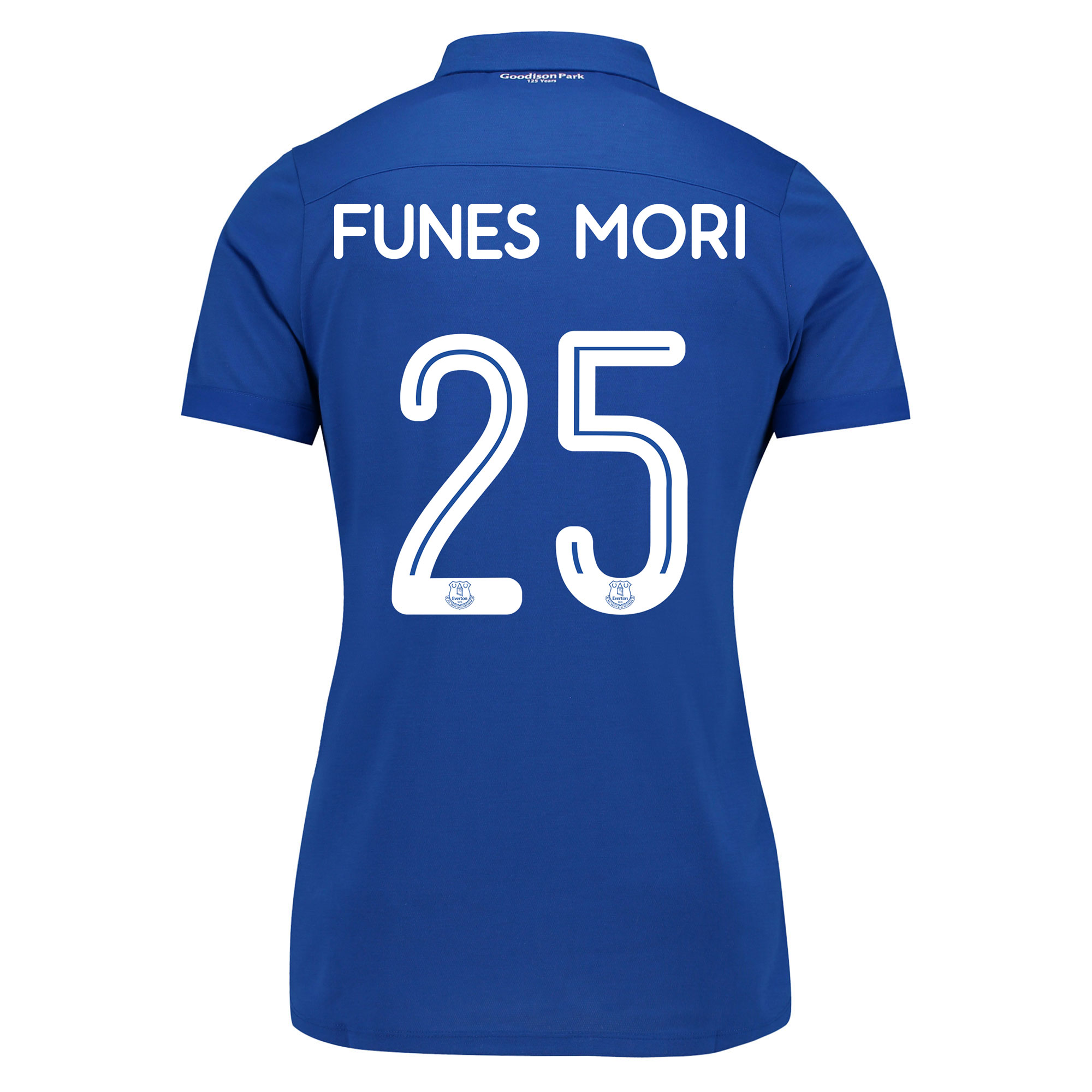 Image of Everton Commemorative Shirt - Womens with Funes Mori 25 printing