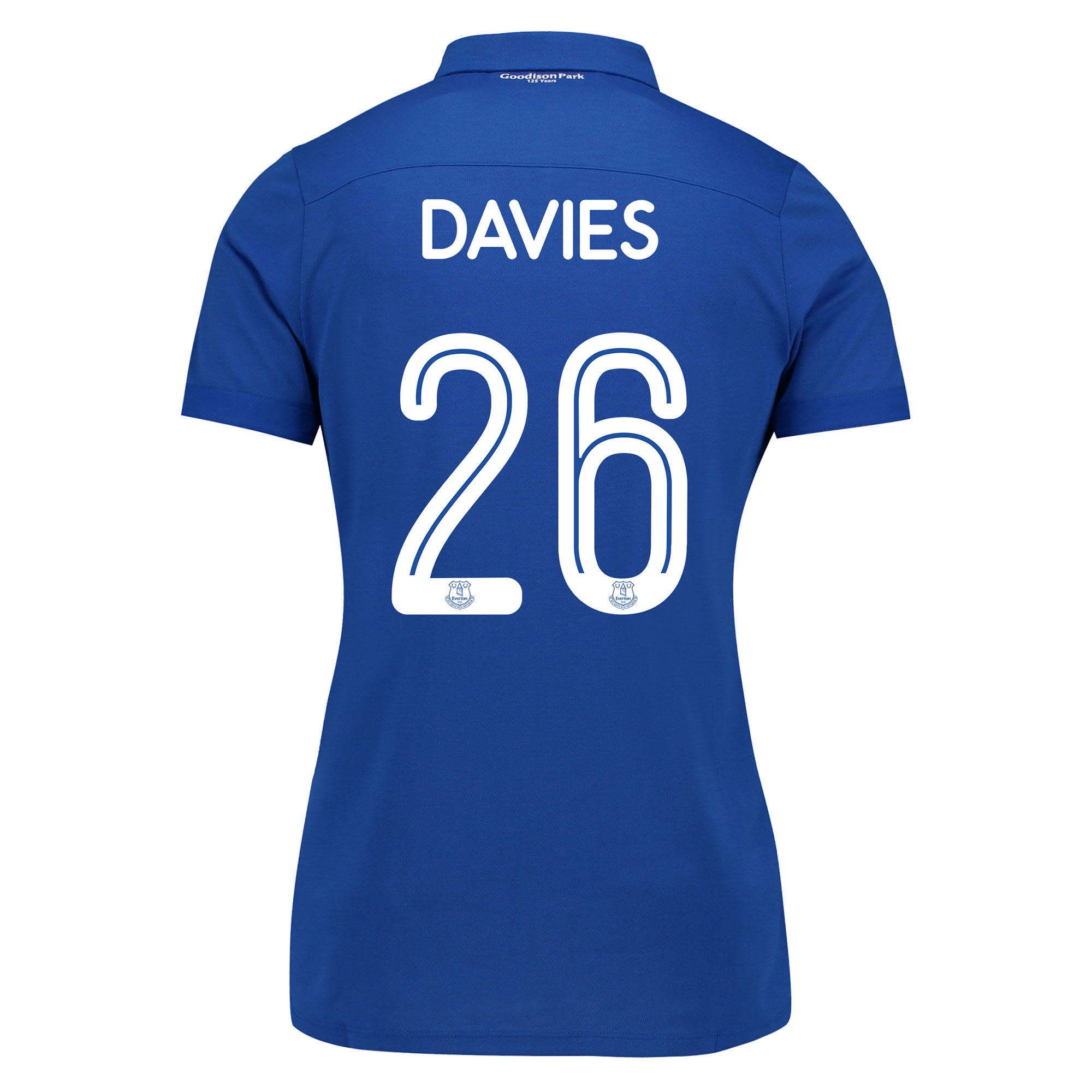 Image of Everton Commemorative Shirt - Womens with Davies 26 printing