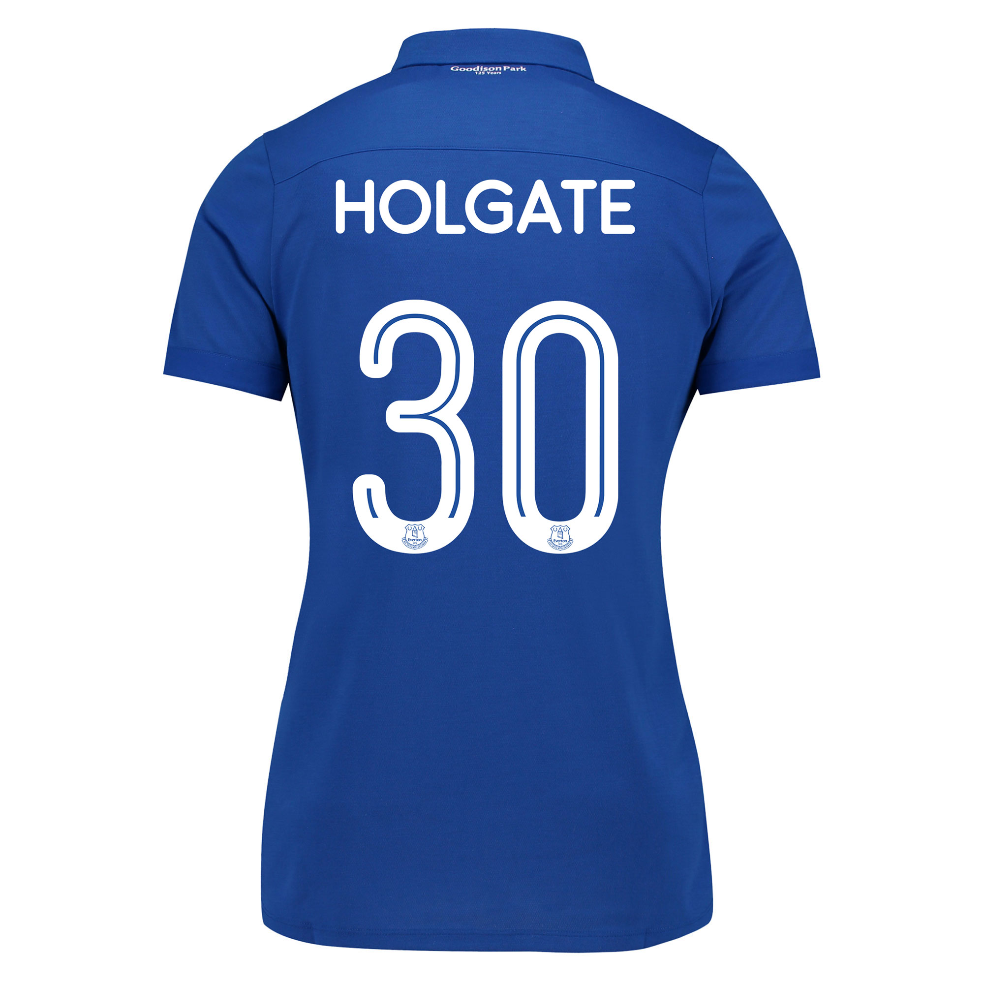 Image of Everton Commemorative Shirt - Womens with Holgate 30 printing