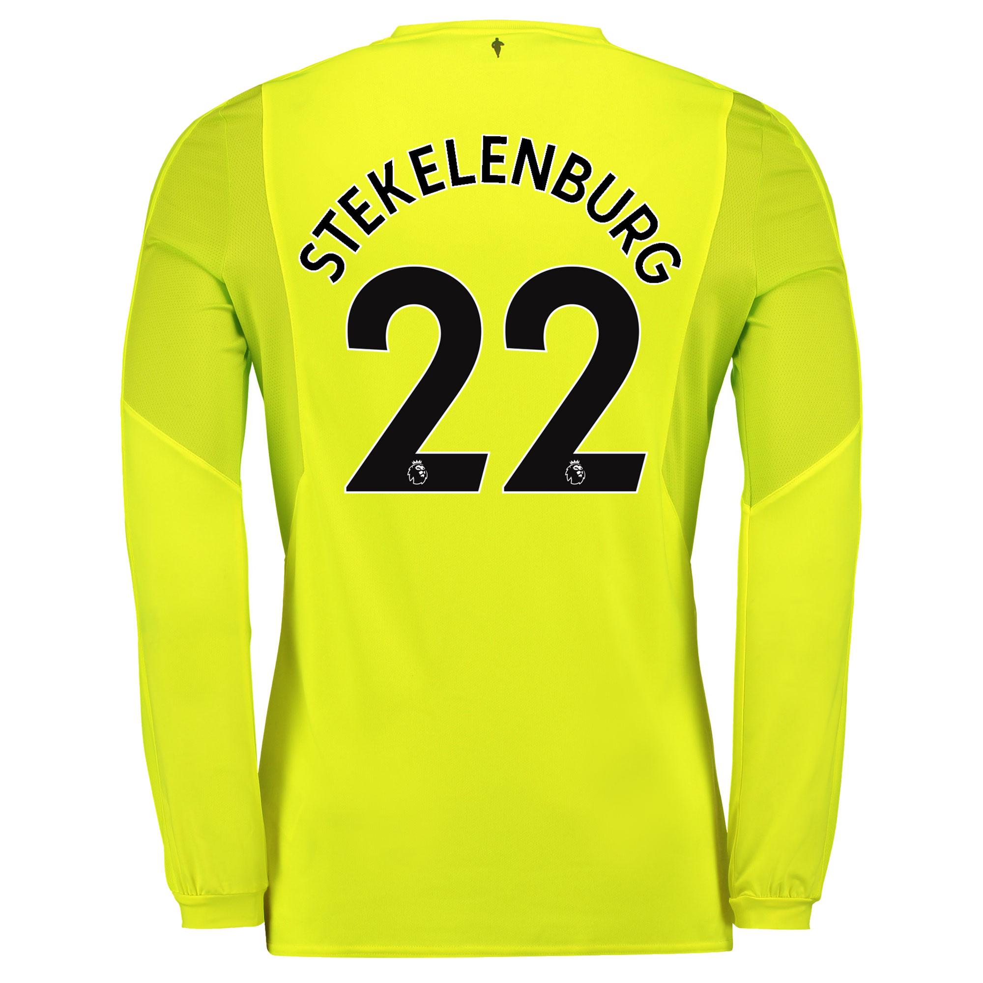Everton Goalkeeper 3rd Shirt 2017/18 with Stekelenburg 22 printing
