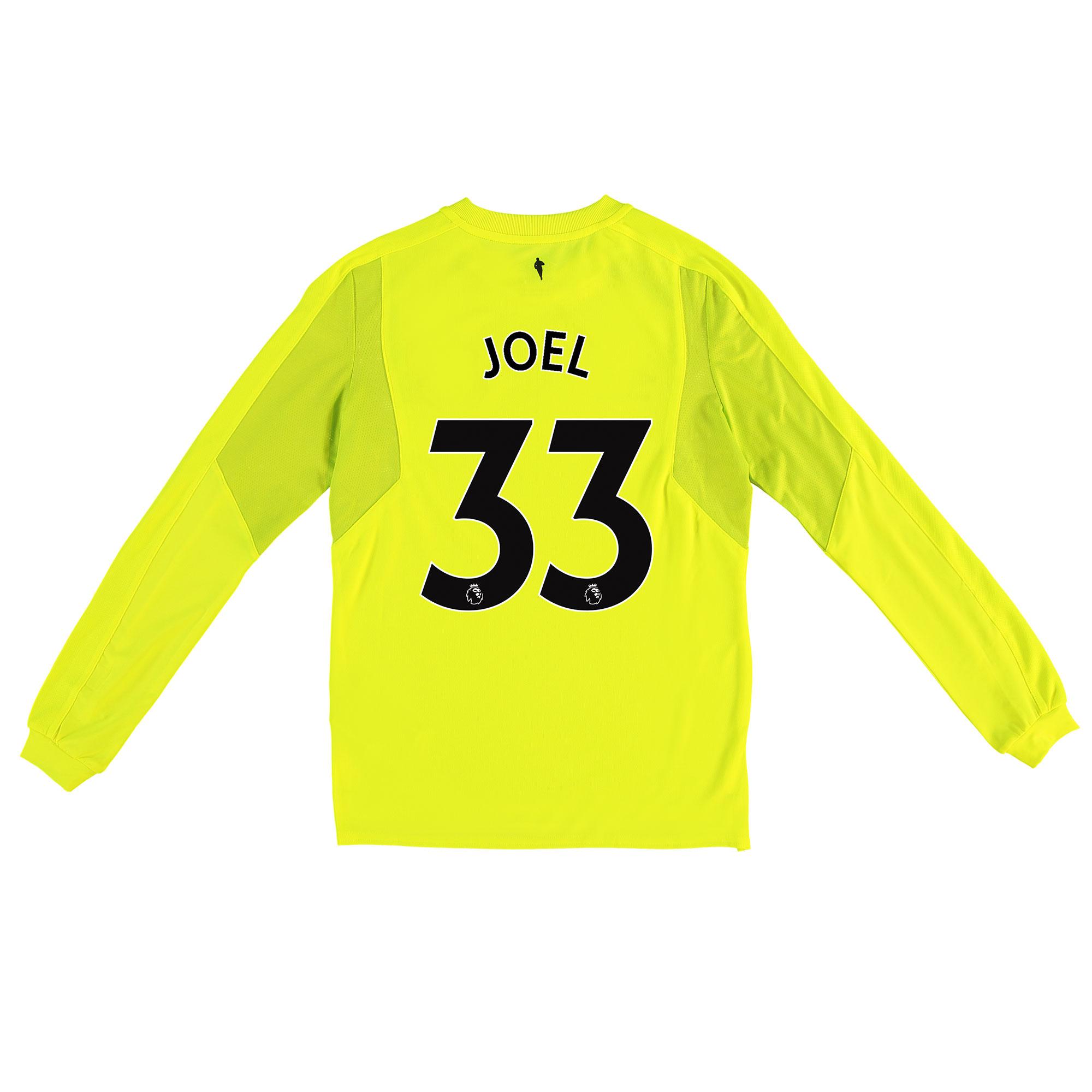 Everton Goalkeeper 3rd Shirt 2017/18 - Junior with Joel 33 printing