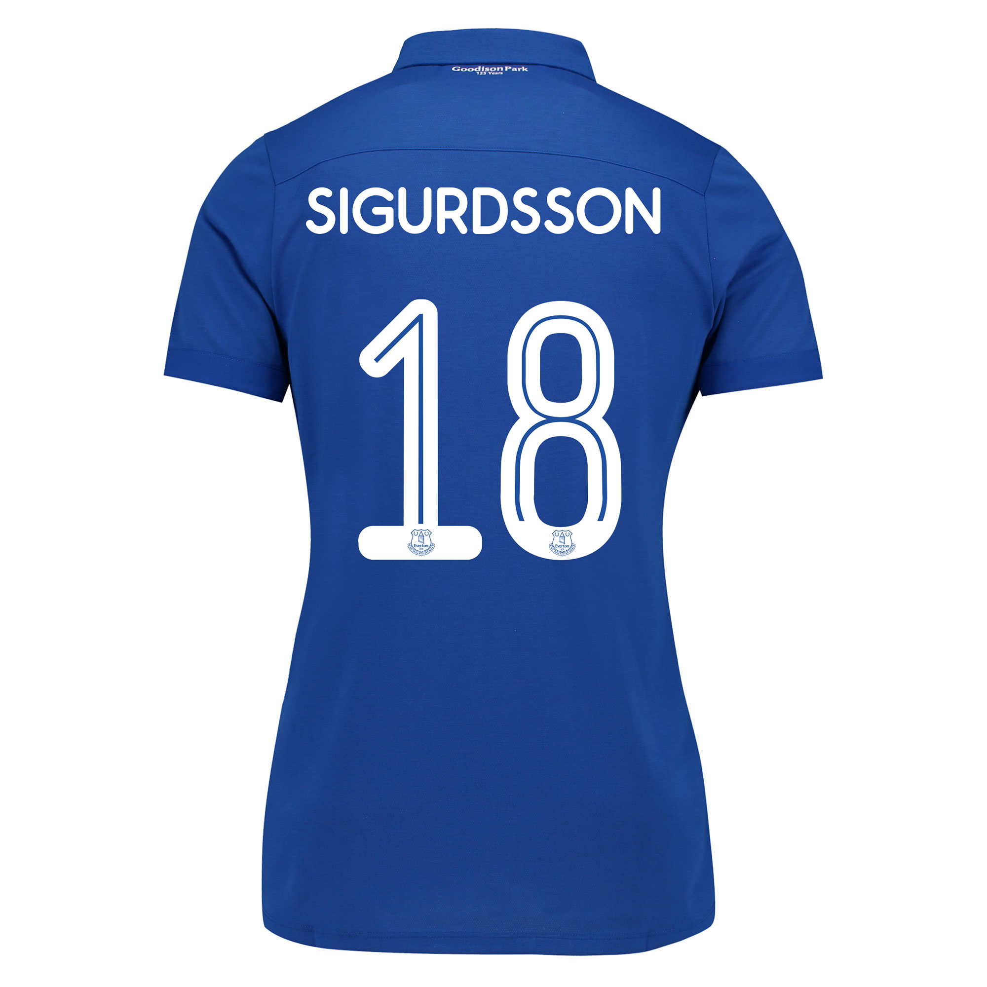 Everton Commemorative Shirt - Womens with Sigurdsson 18 printing
