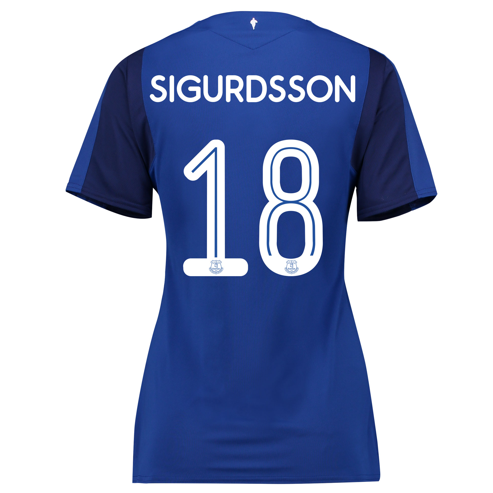 Everton Home Cup Shirt 2017/18 - Womens with Sigurdsson 18 printing