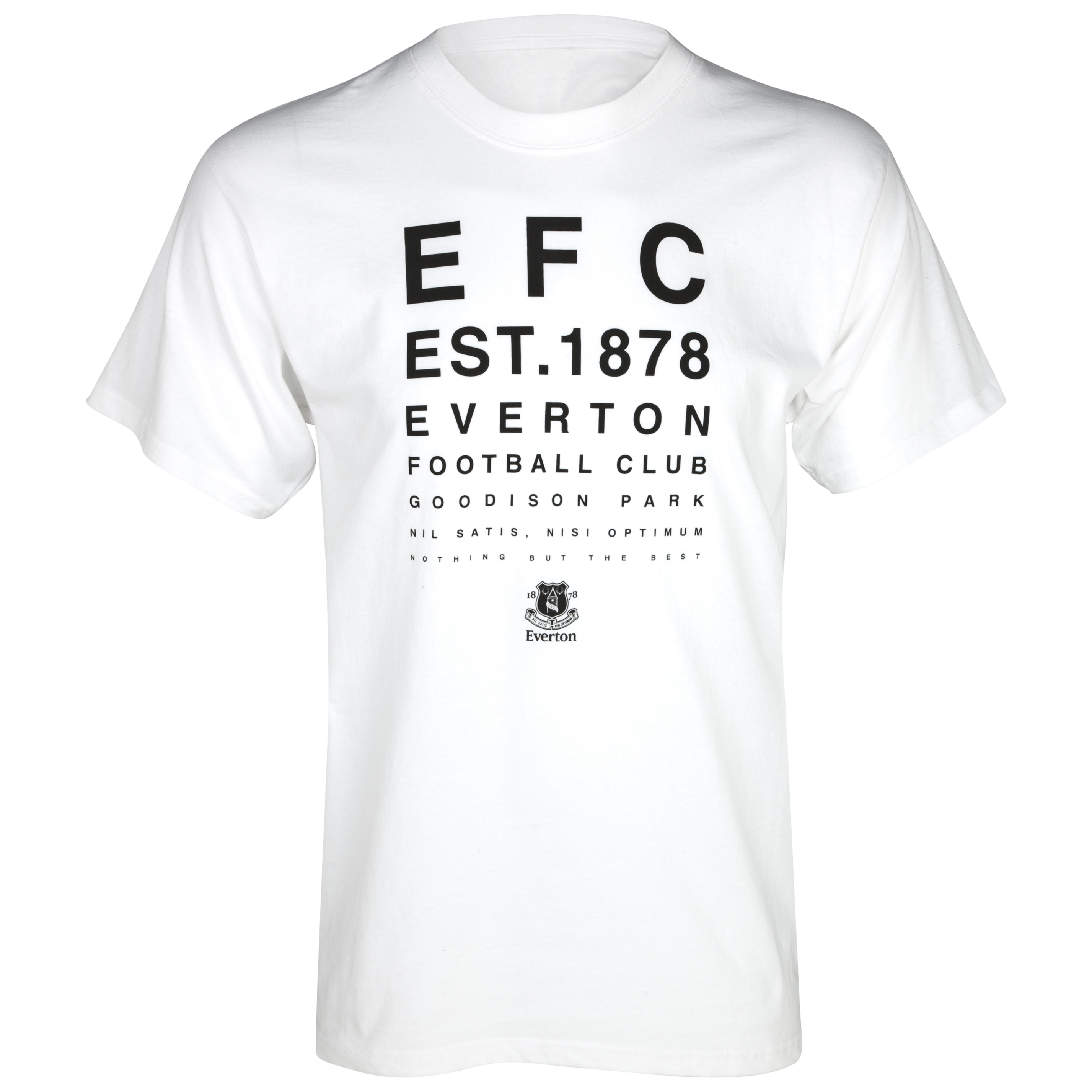 Everton 2for£20 Test Card T-Shirt - White
