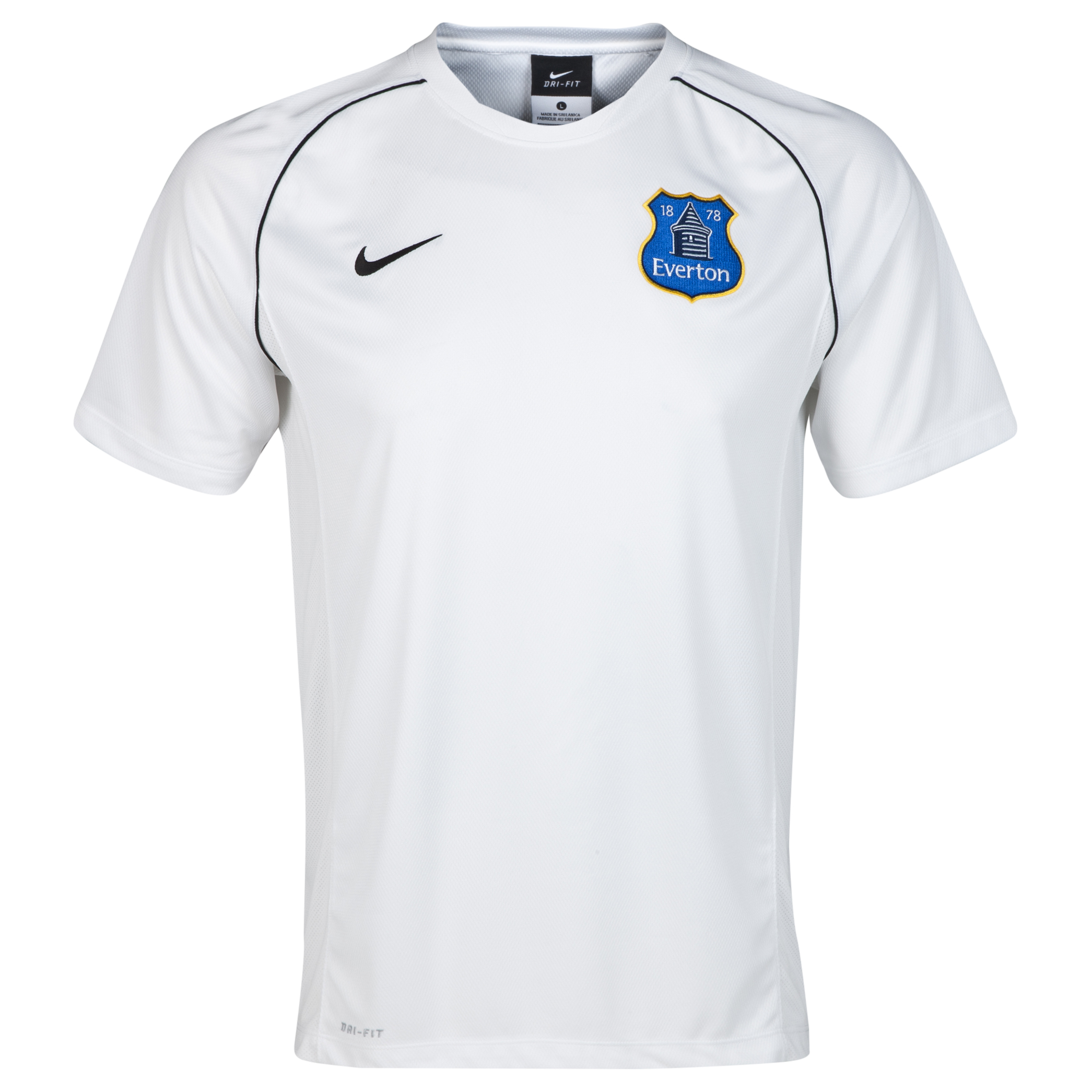 Everton Training Top - White/Black