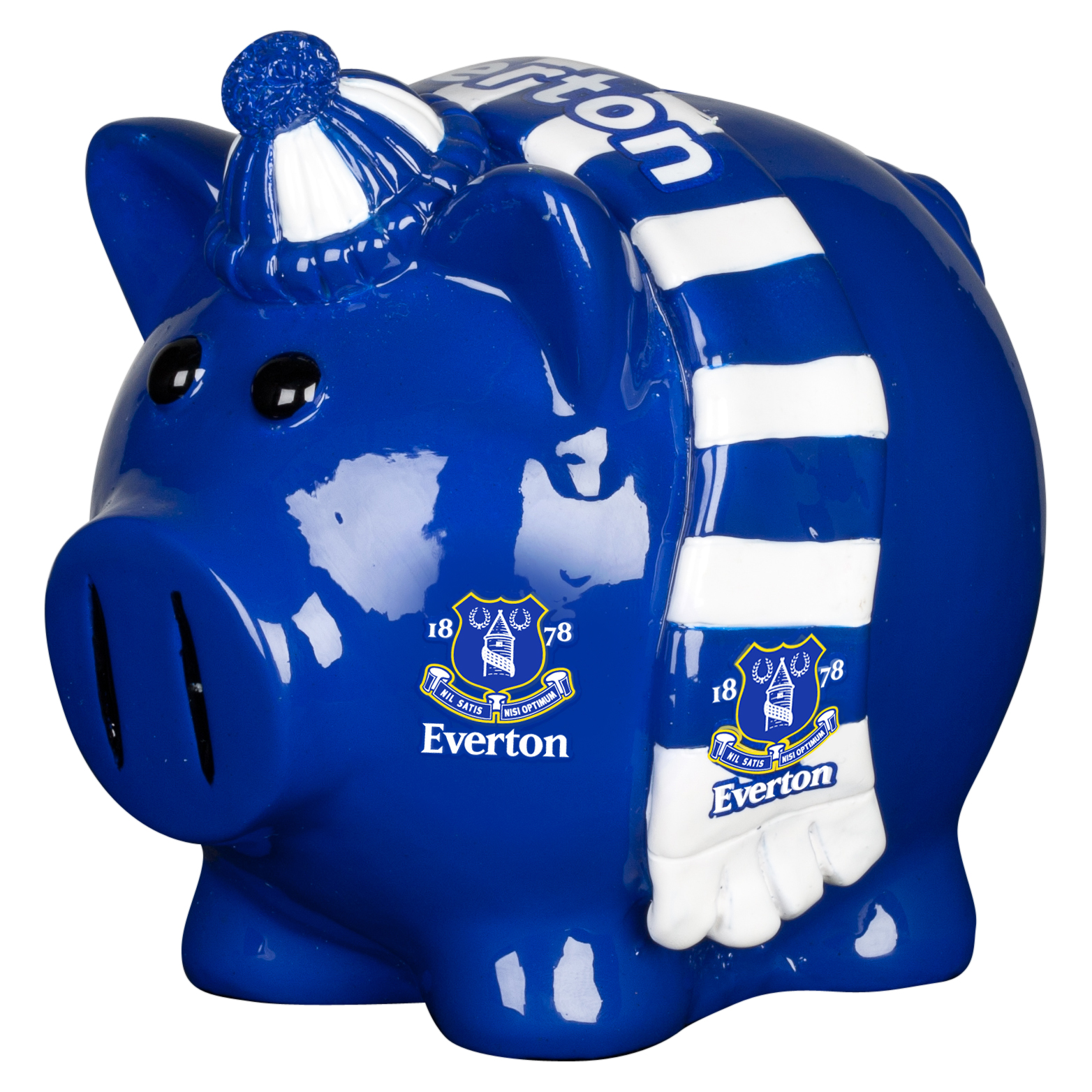 Everton Scarf Themed Small Piggy Bank - 4x4inch