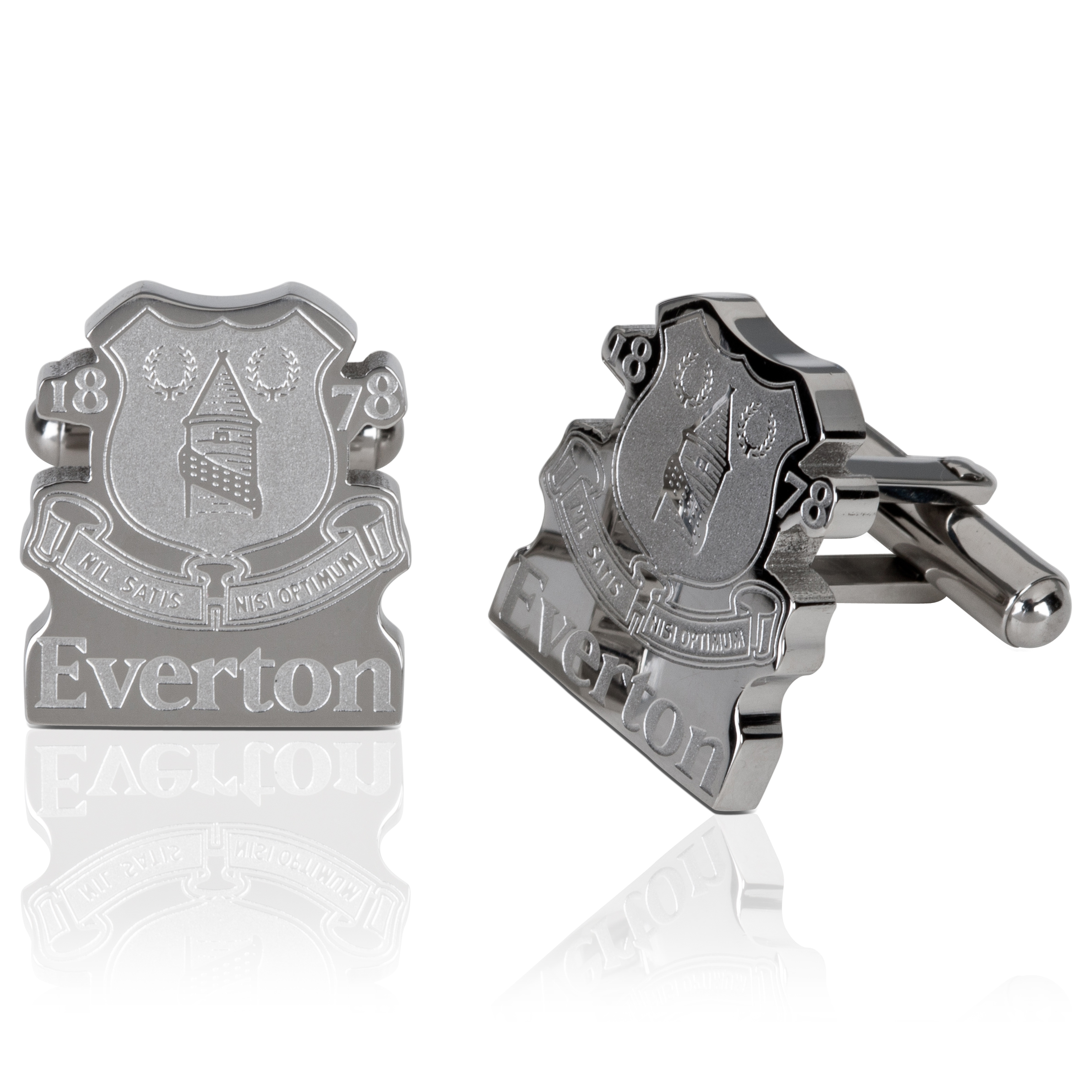 Everton Stainless Steel Cutout Cufflinks