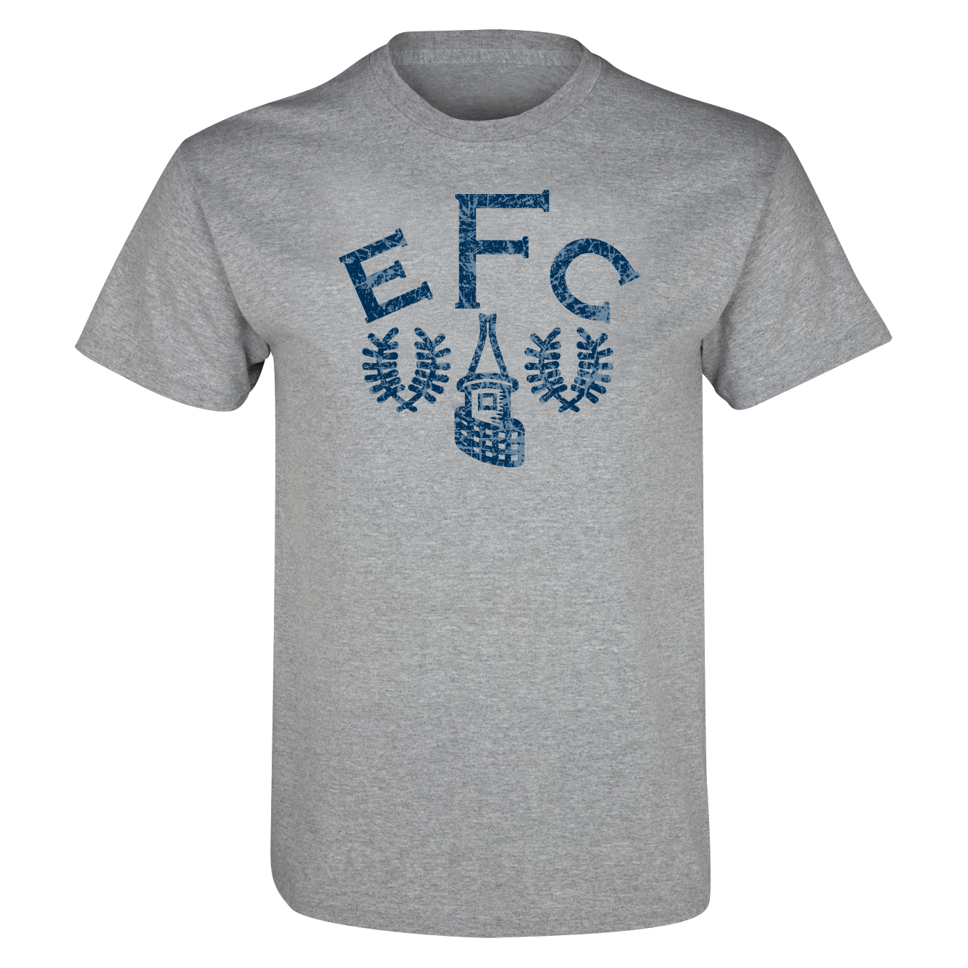 Everton 2for£20 Heritage Crest T-Shirt - Grey Marl