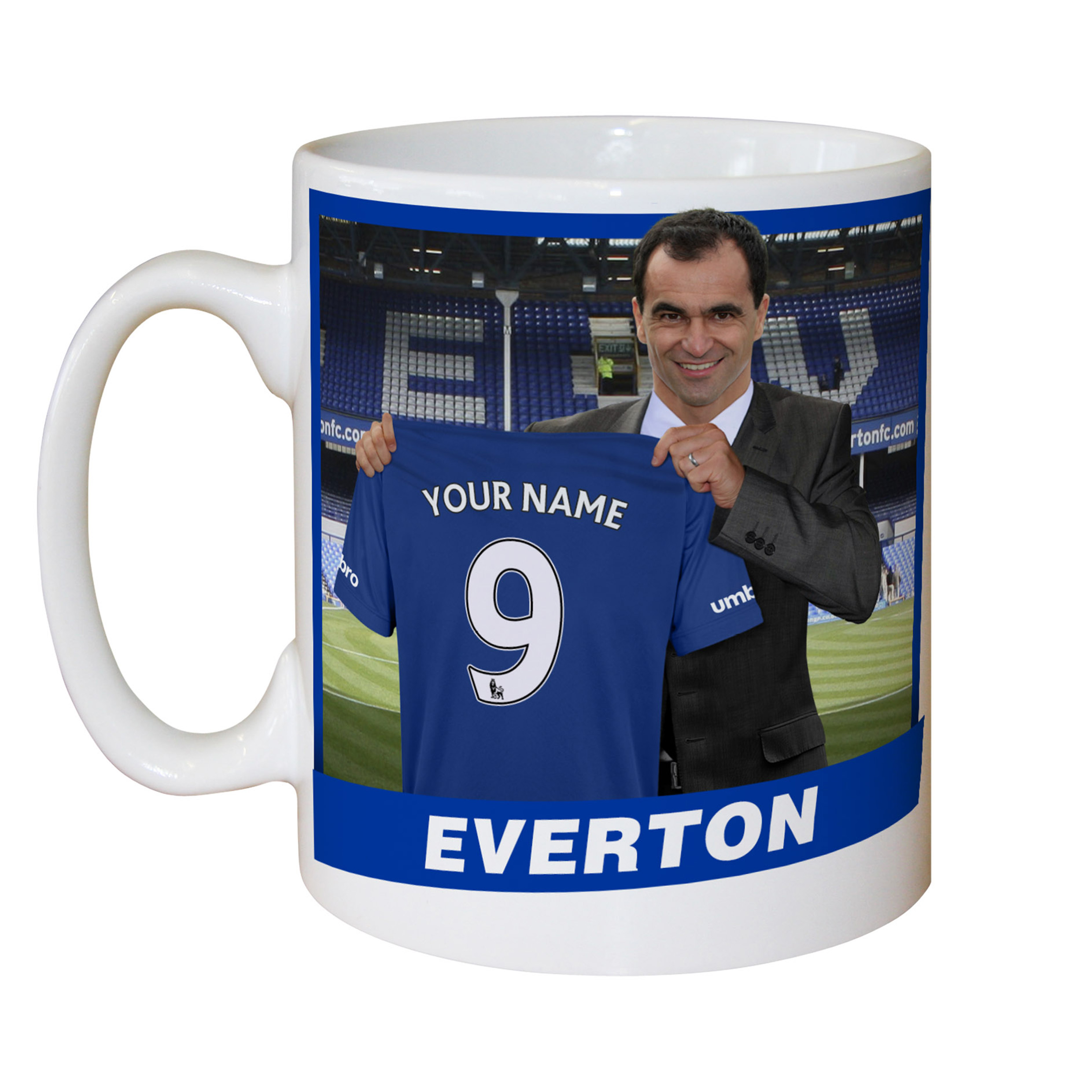 Everton Personalised Manager Mug