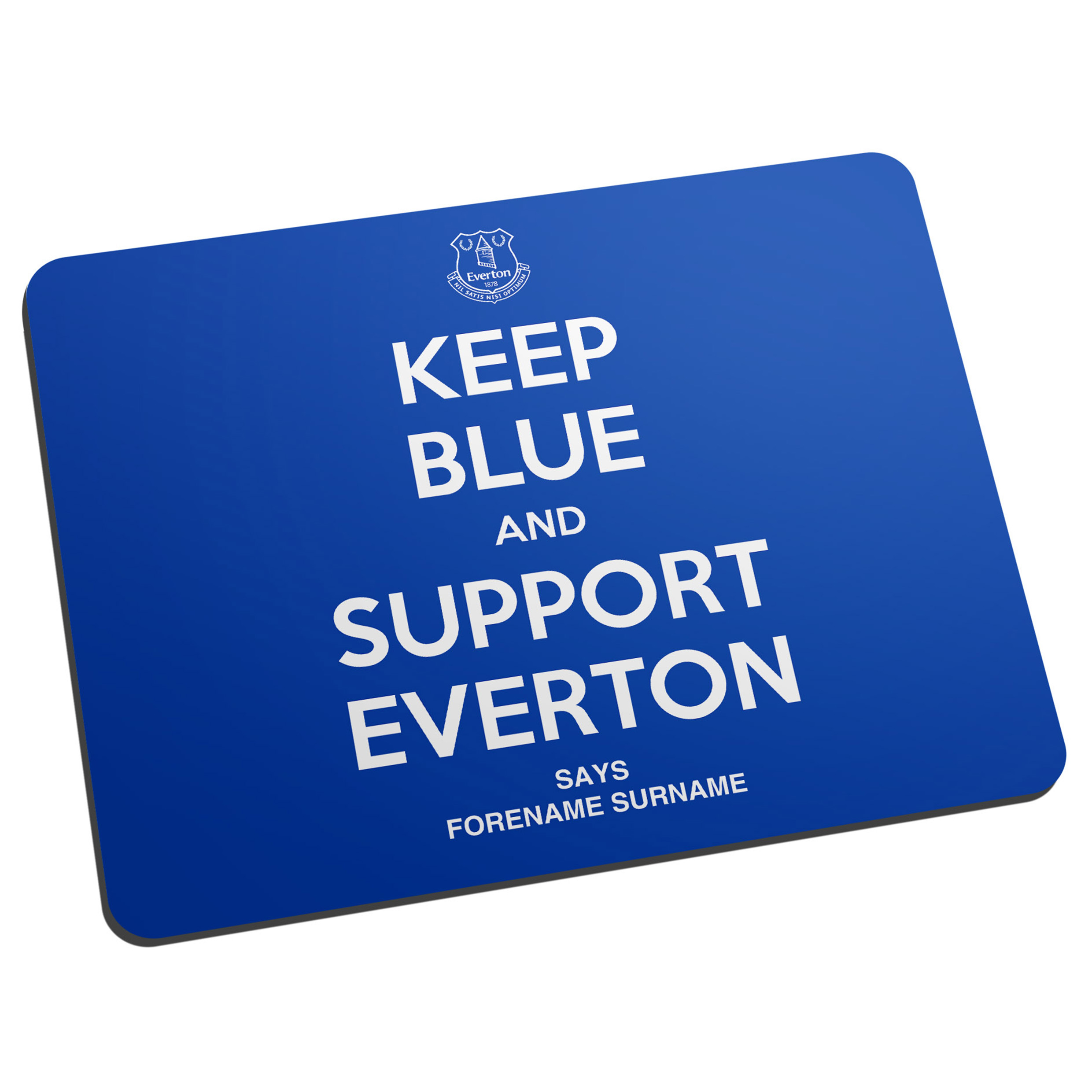 Everton Personalised Keep Blue Mouse Mat