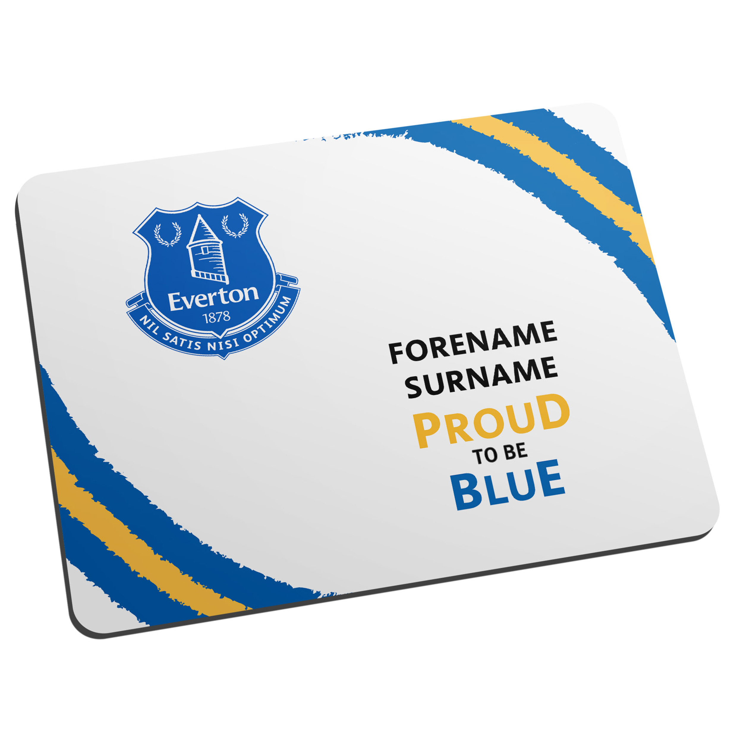 Everton Personalised Proud To Be Blue Mouse Mat