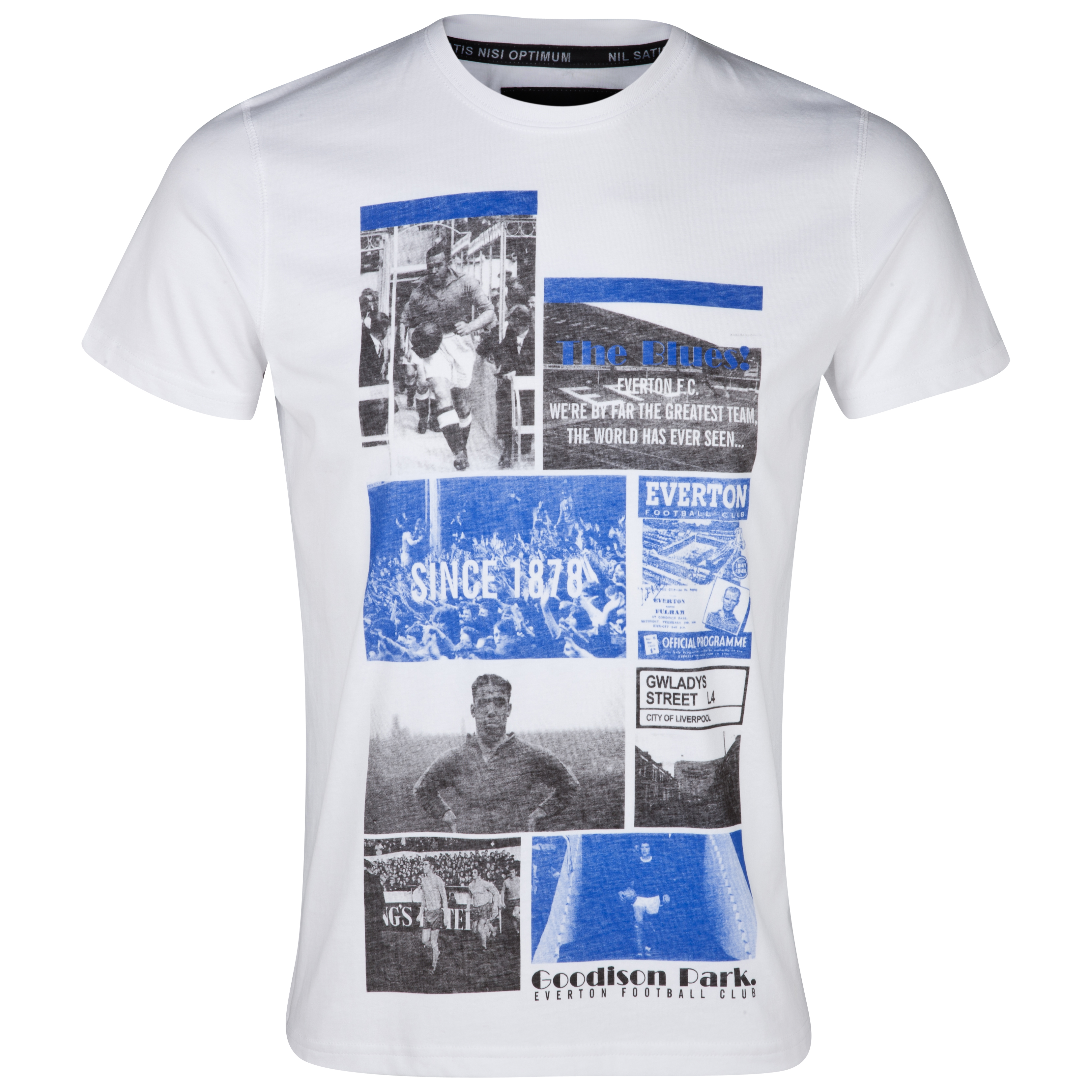 Everton Snapshot T-Shirt  - White