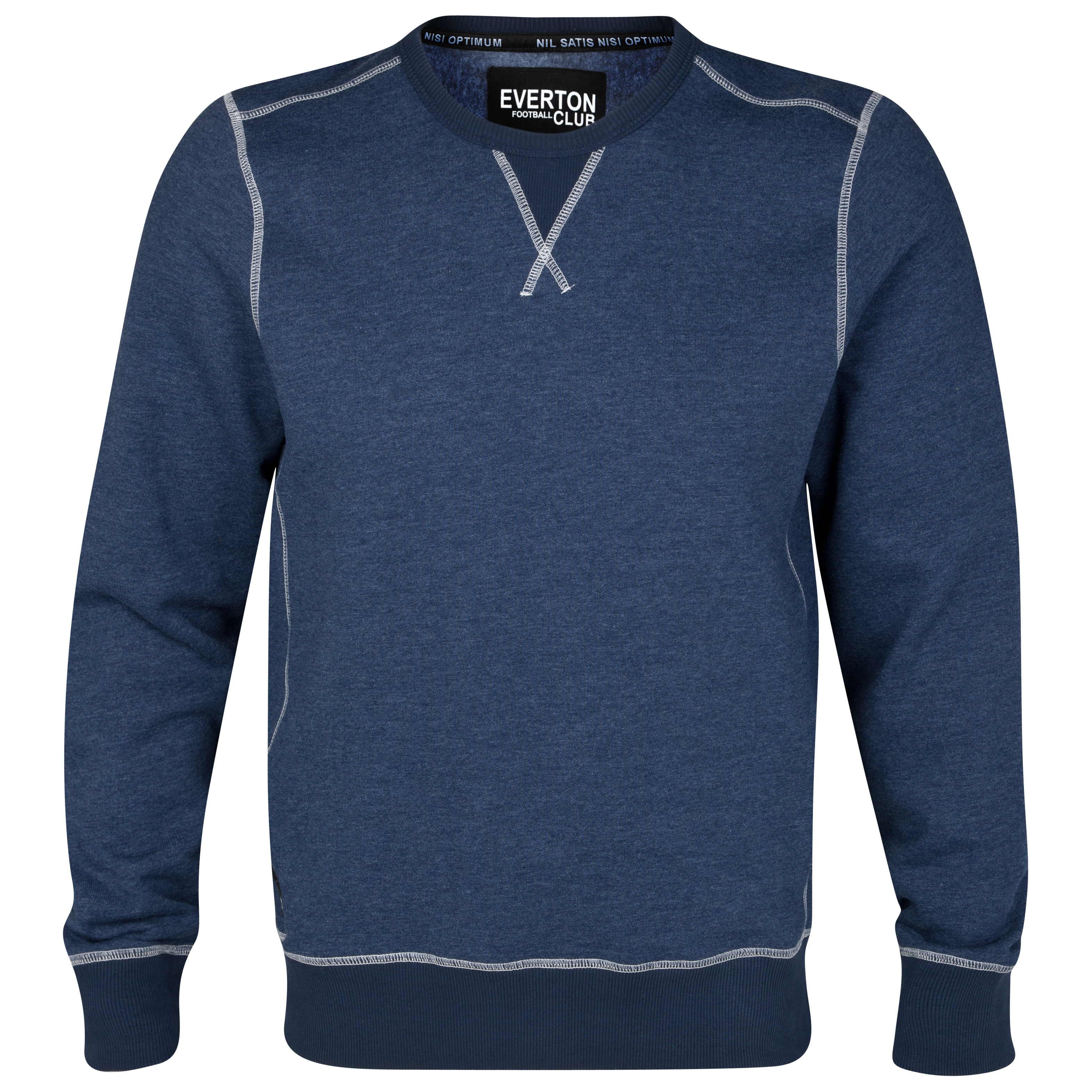 Everton Boston Crew Neck Sweater - Denim Blue