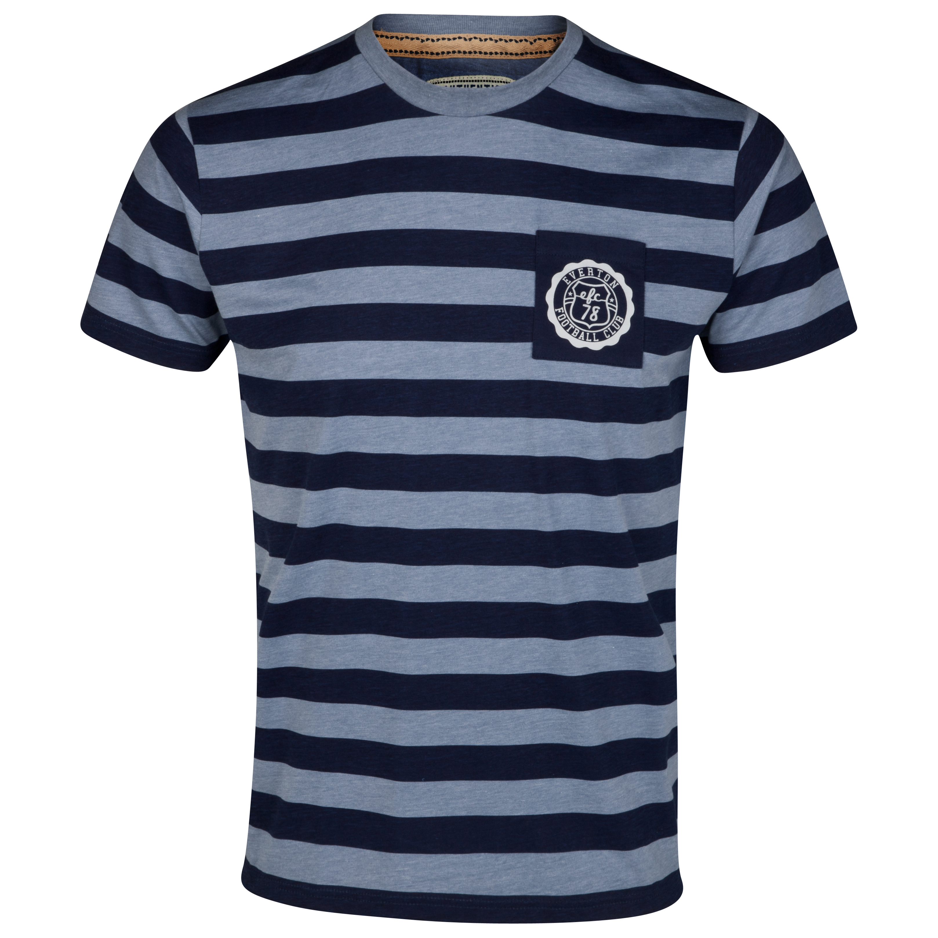 Everton Hoops T-Shirt - Navy/Blue
