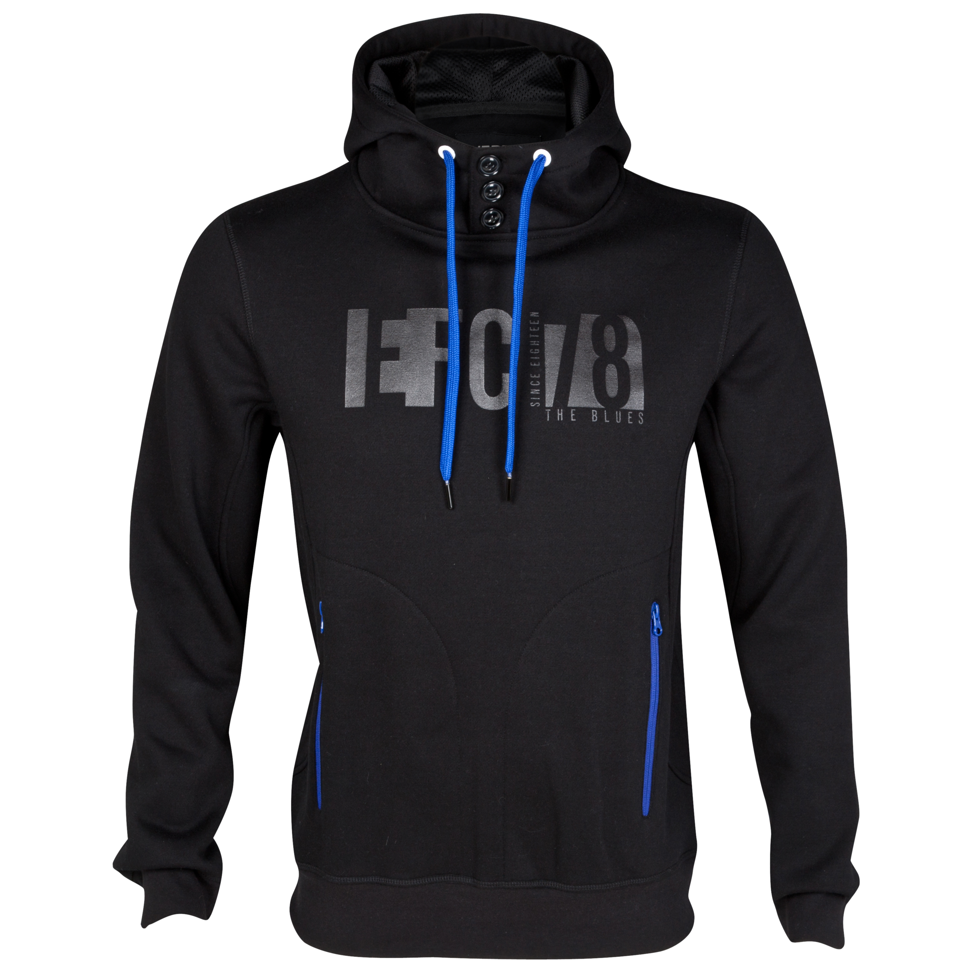 Everton Techno Hoodie - Black - Older Boys