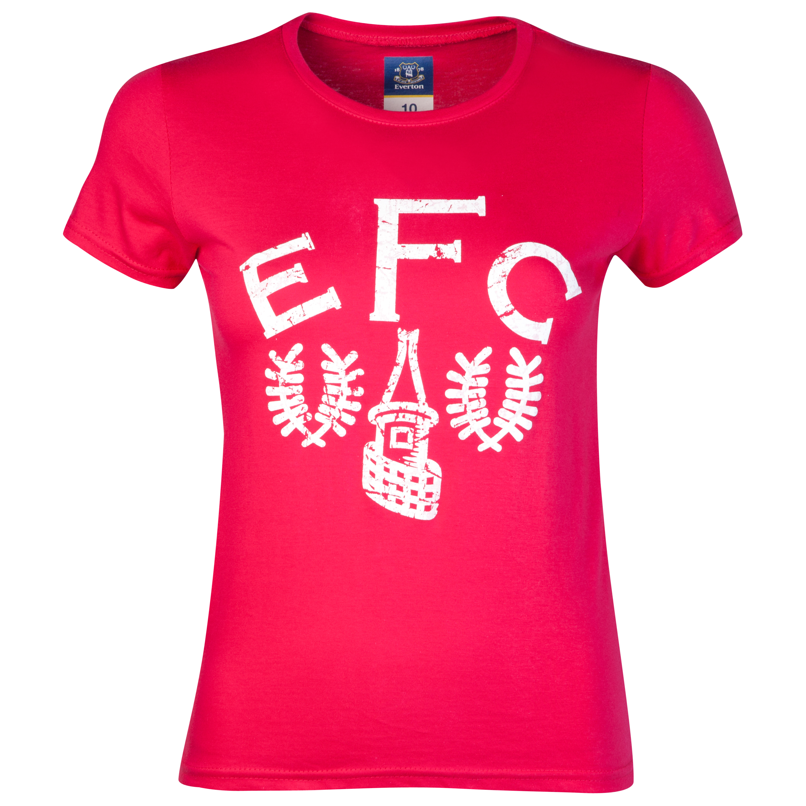 Everton 2for£20 Heritage Crest T-Shirt - Pink - Womens