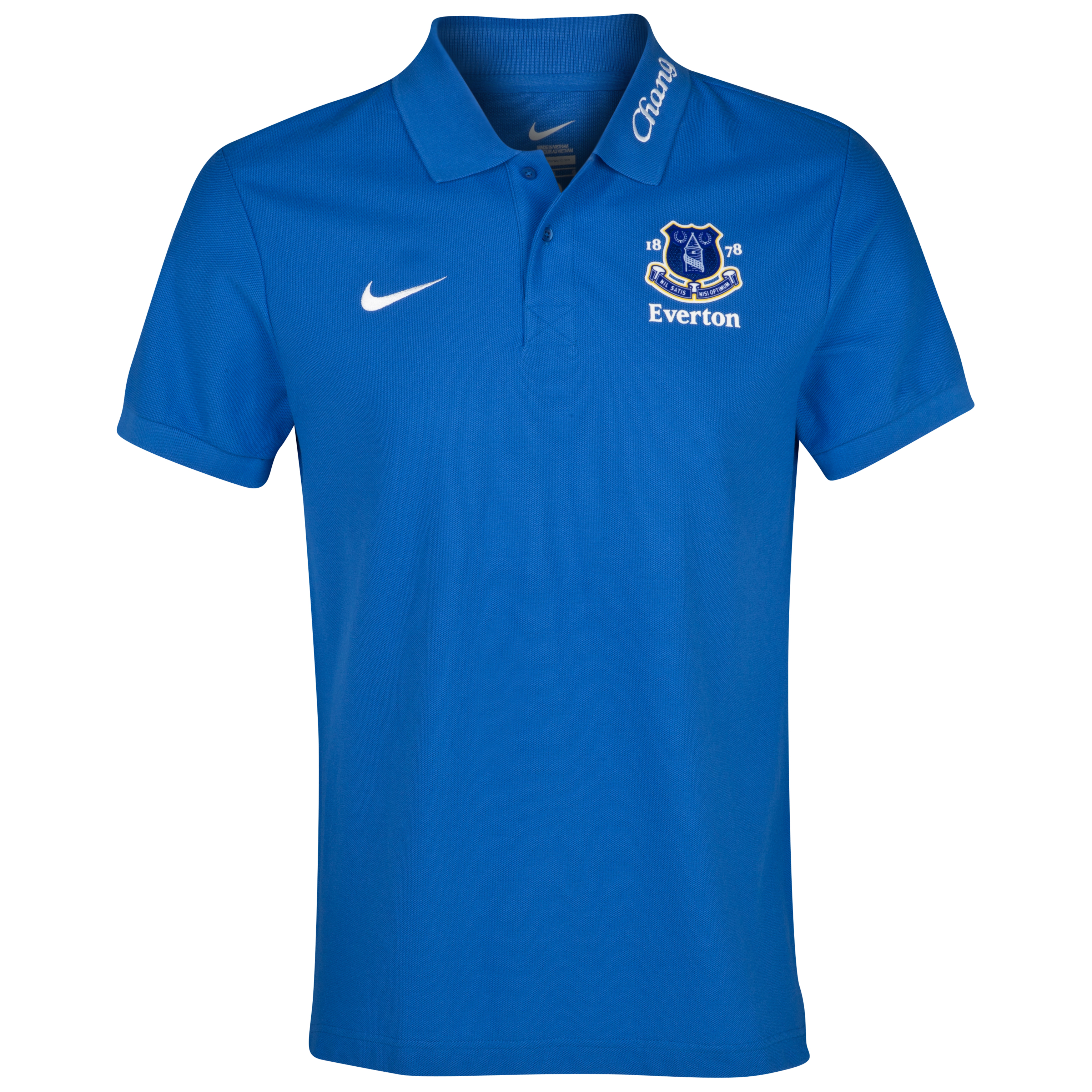 Everton Media Polo Shirt - Royal Blue/White