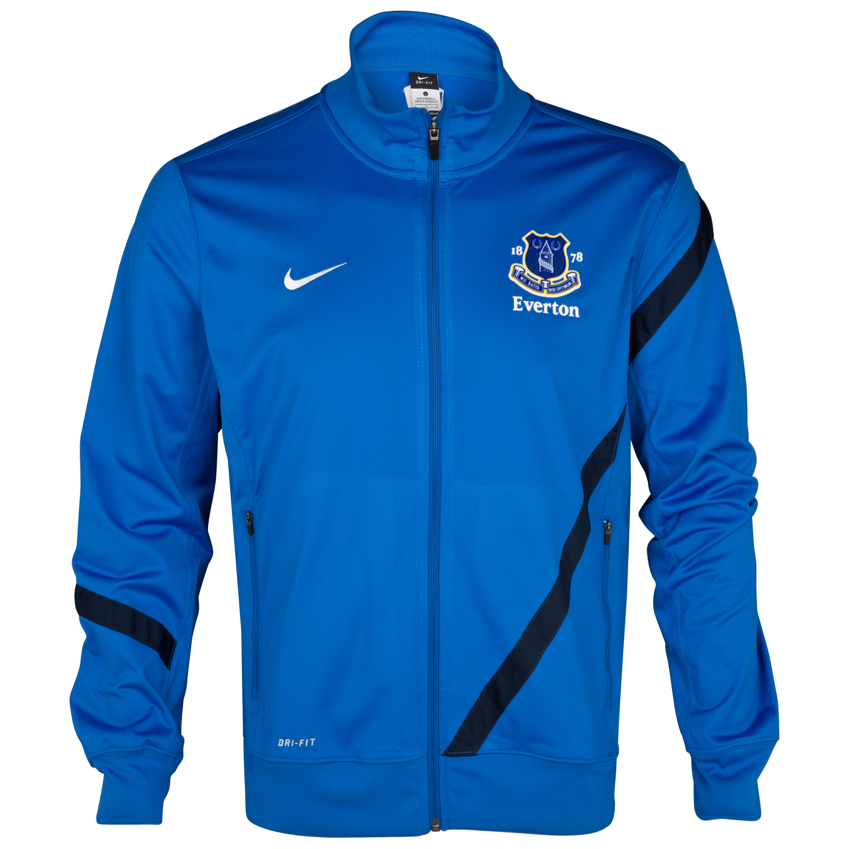 Everton Poly Jacket - Royal Blue/Obsidian/White