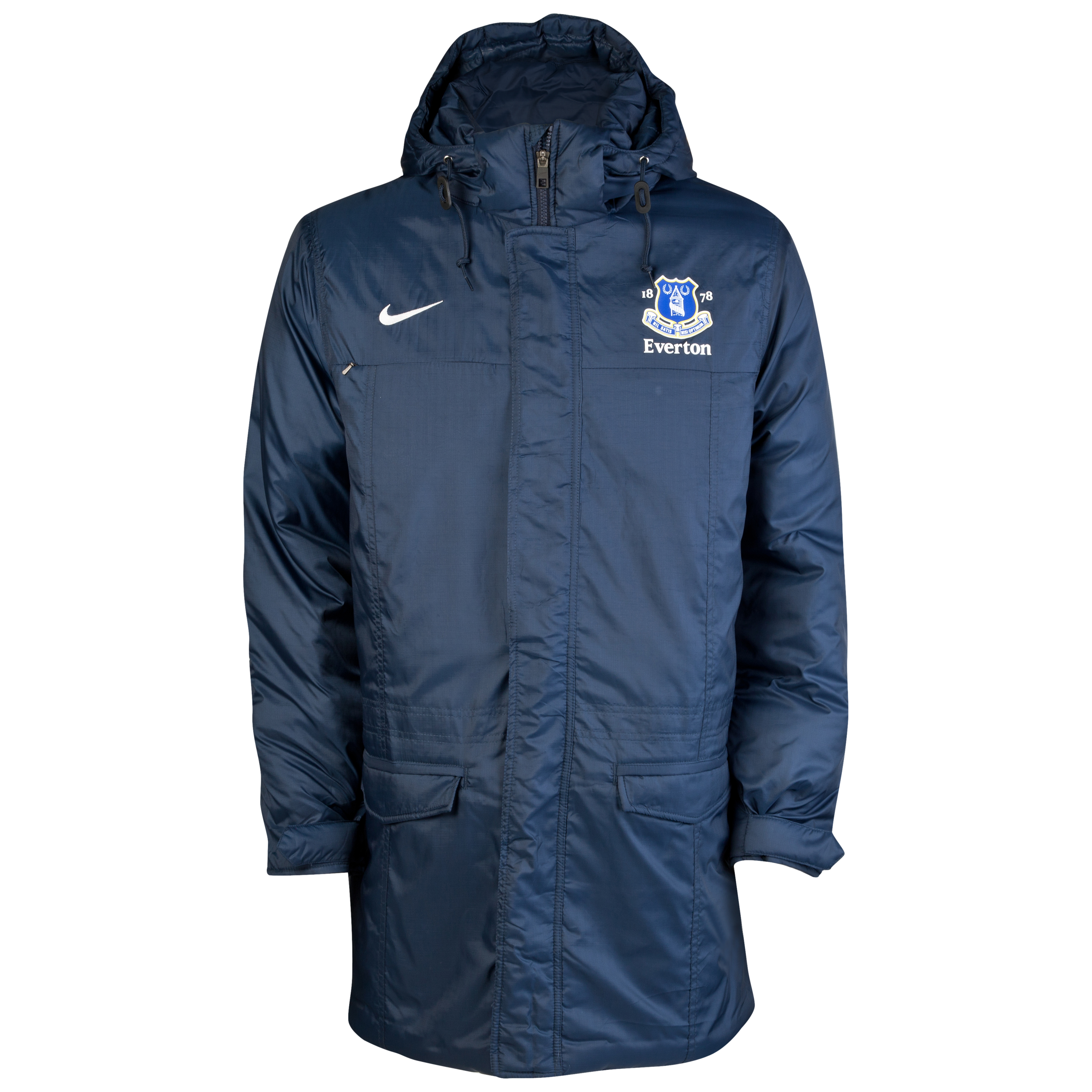 Everton Padded Jacket - Obsidian/White