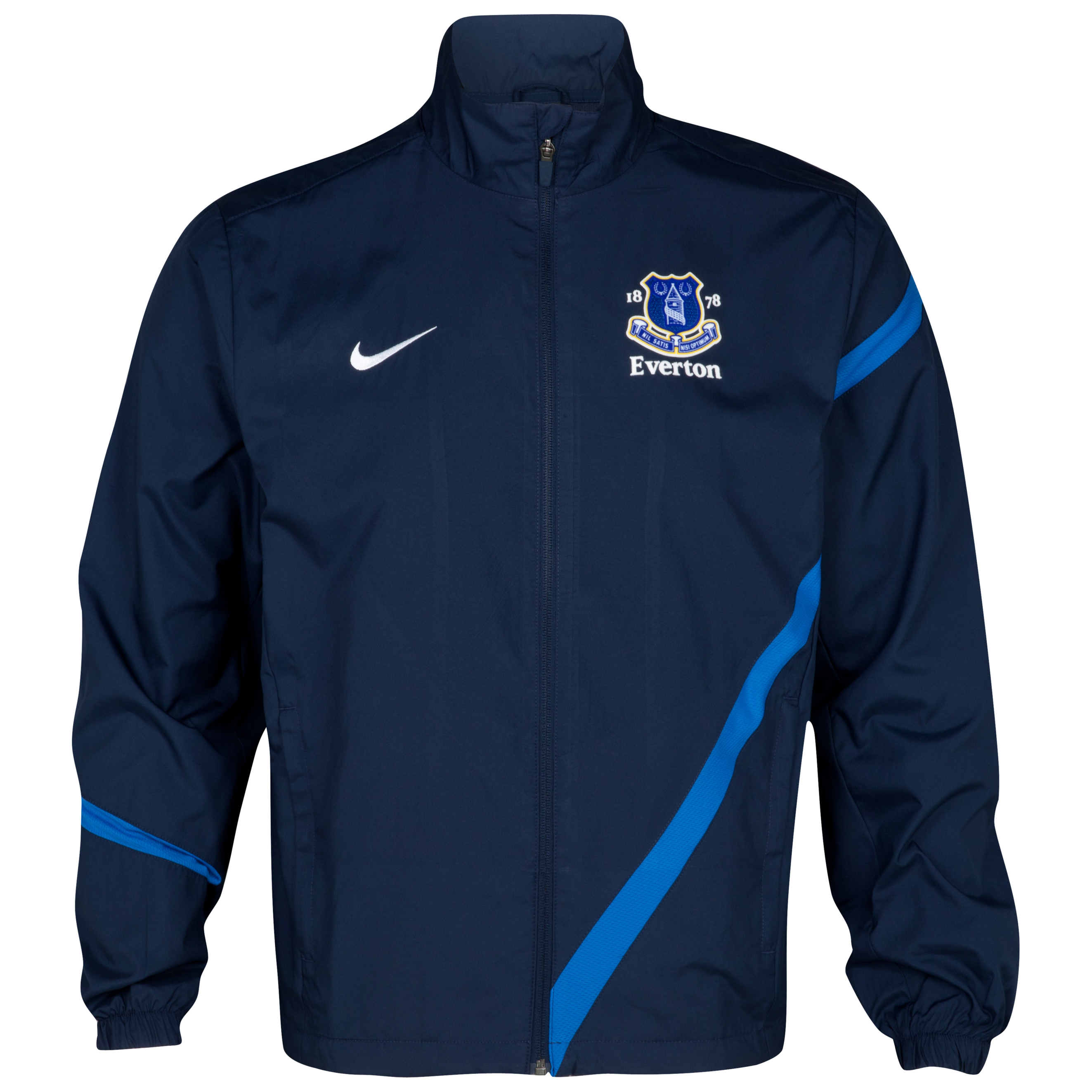 Everton Sideline Track Jacket - Obsidian/Royal Blue/White