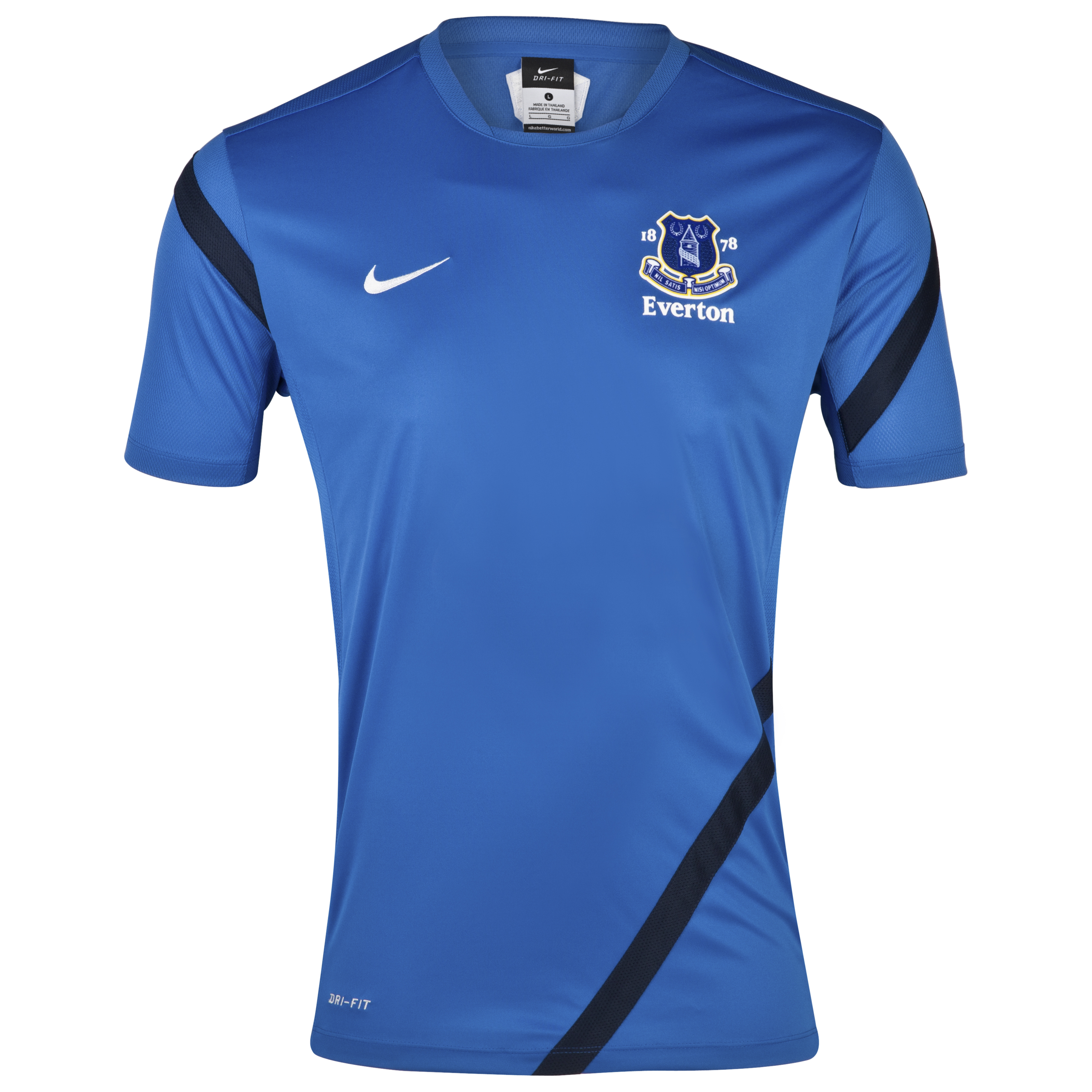 Everton Training T-Shirt - Junior - Royal Blue/Obsidian/White