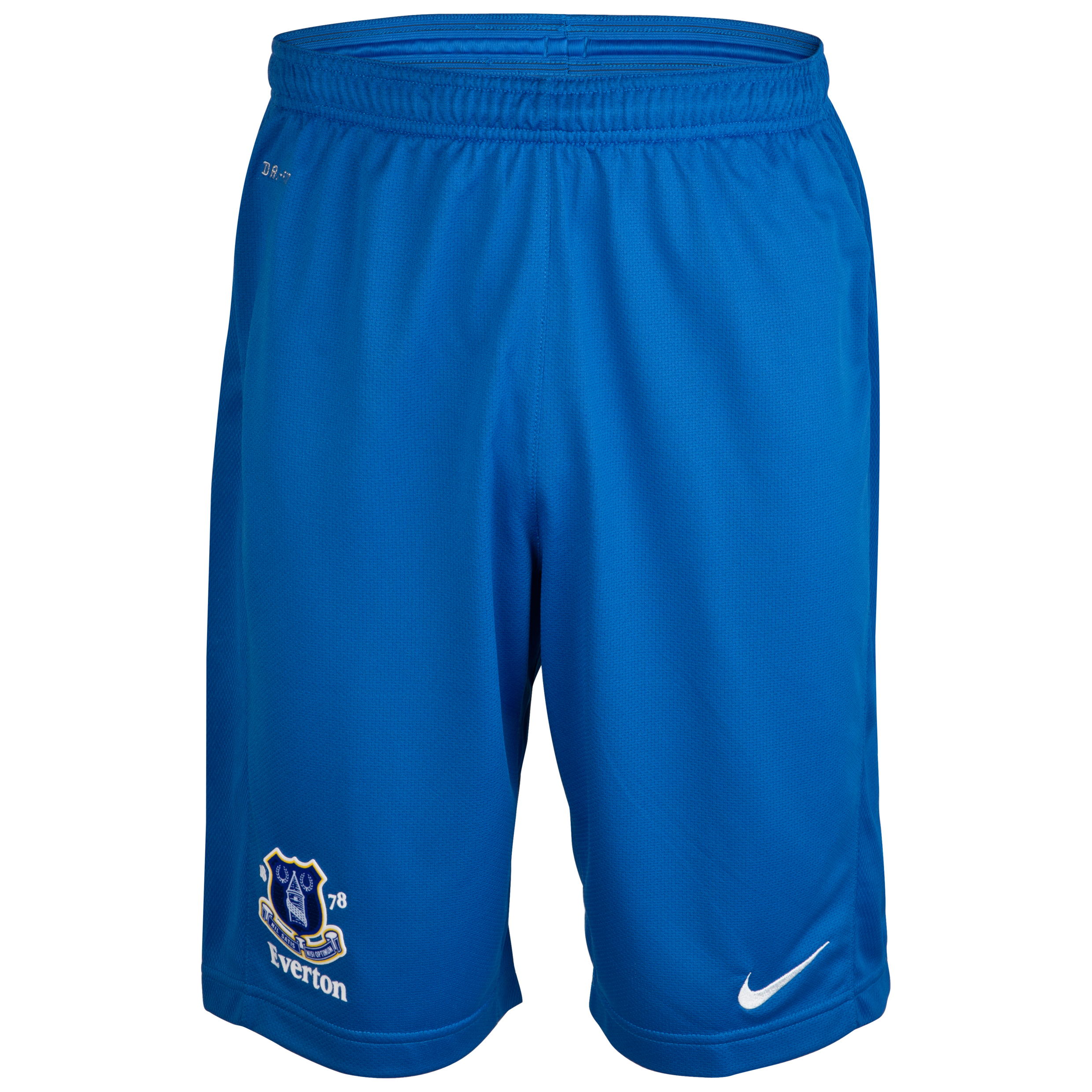 Everton Longer Knit Short - Junior - Royal Blue/White