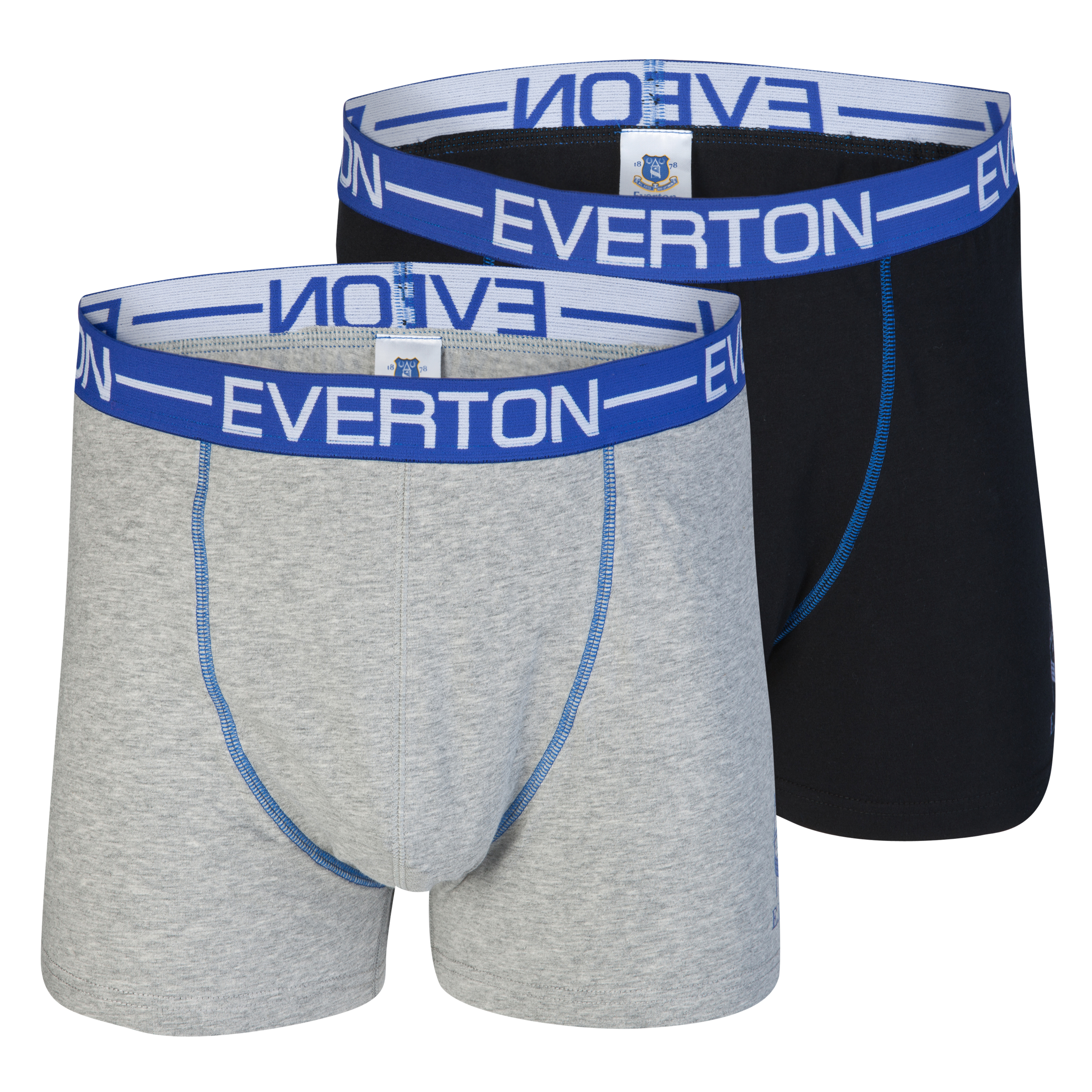 Everton Pack of 2 Boxer Shorts - Black/Grey
