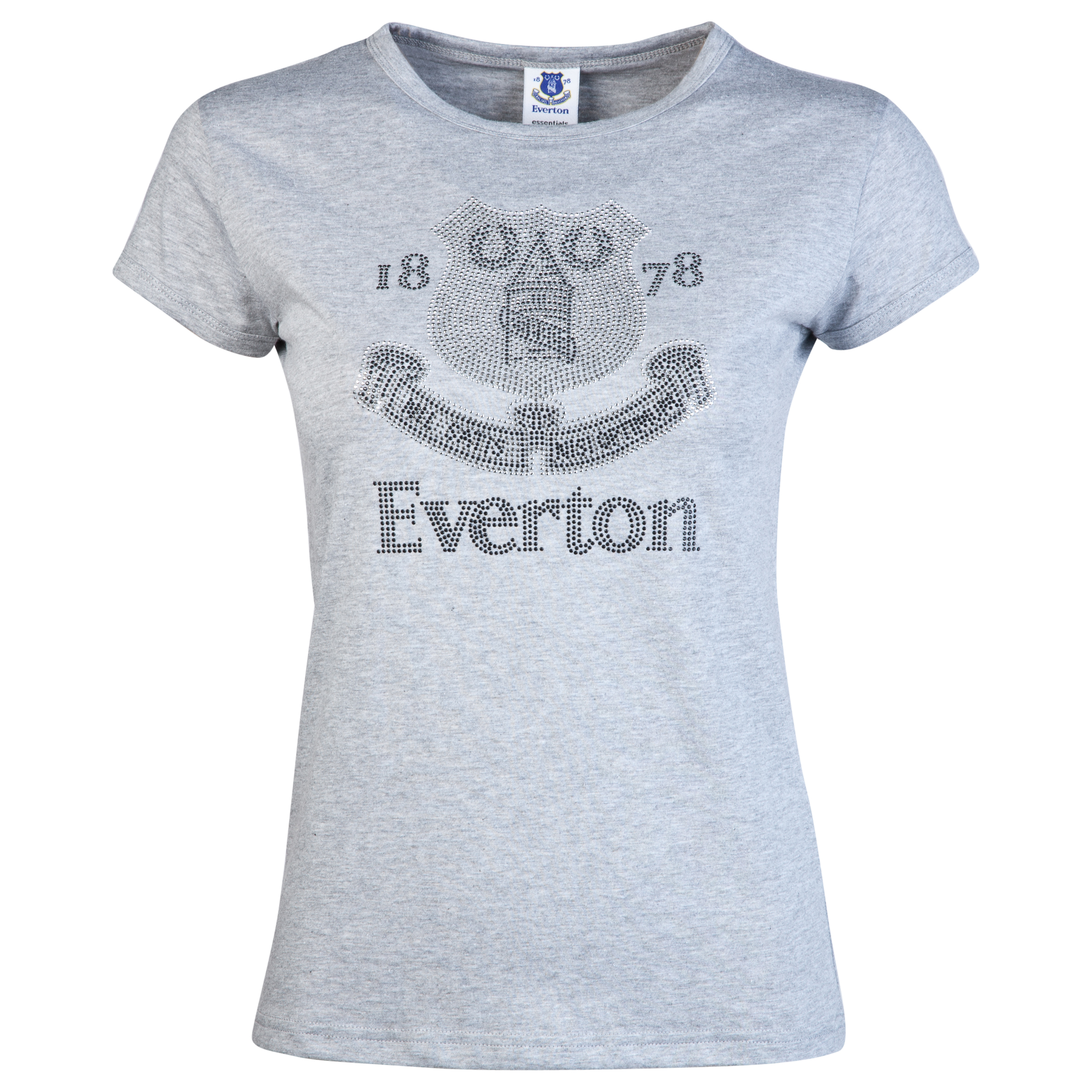 Everton Rhinestone T-Shirt - Grey Marl - Womens