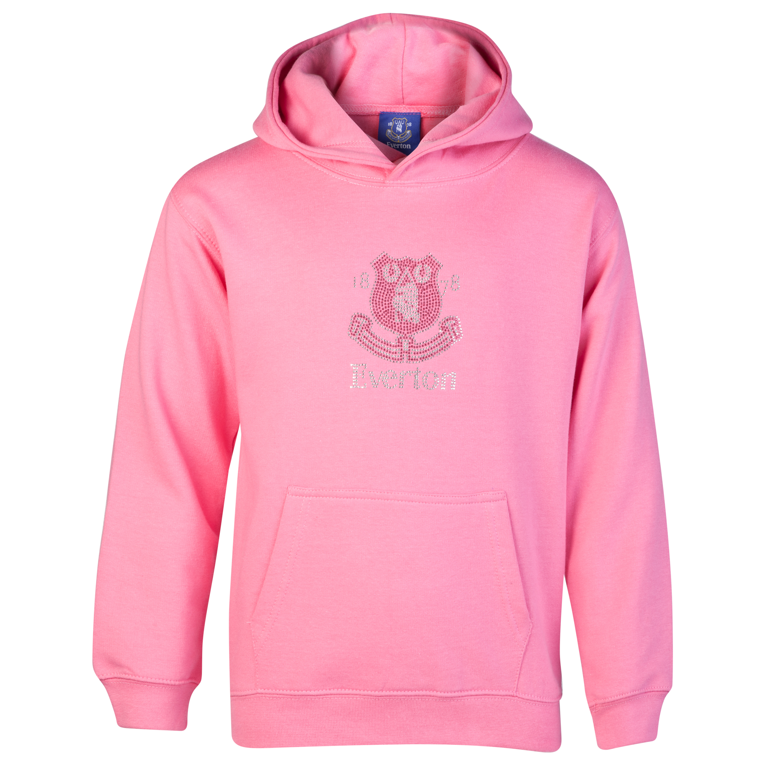Everton Rhinestone Hoodie - Pink - Older Girls