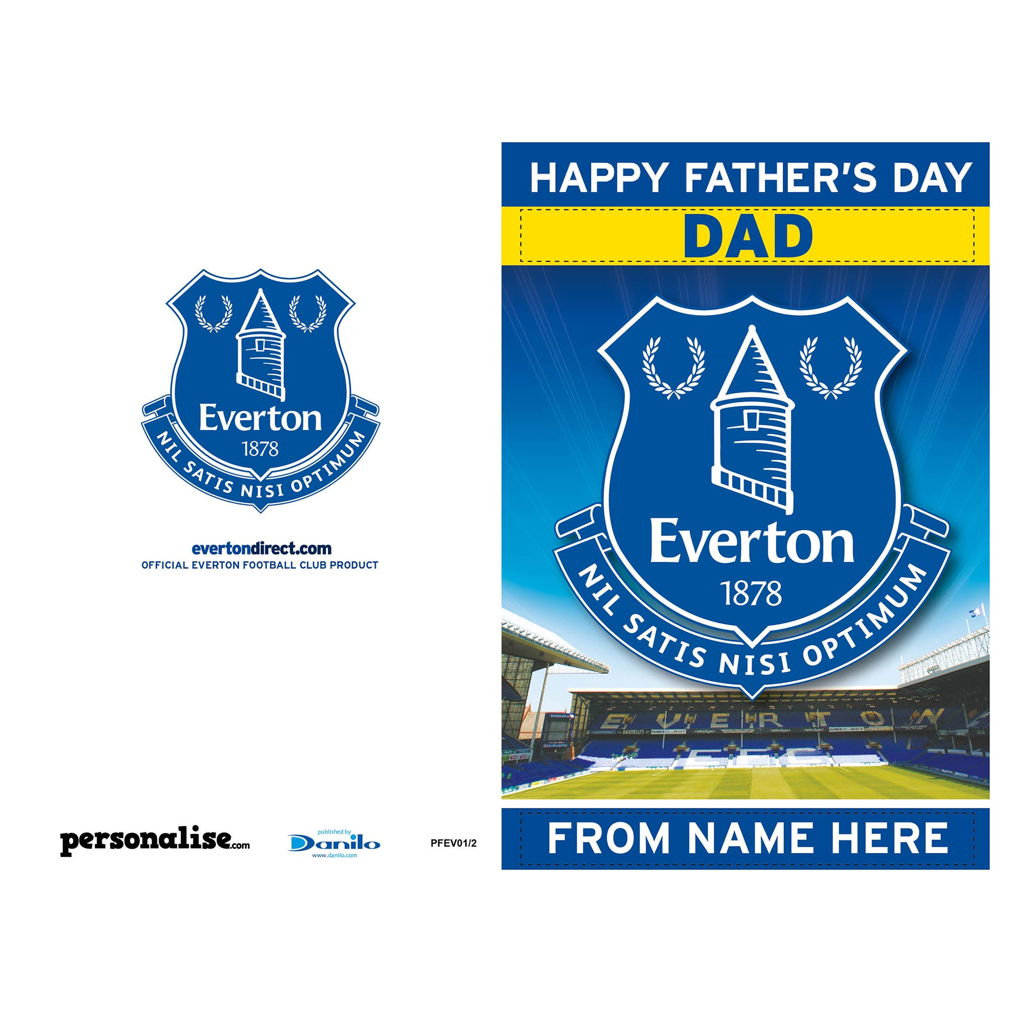 Everton Personalised Fathers Day Card