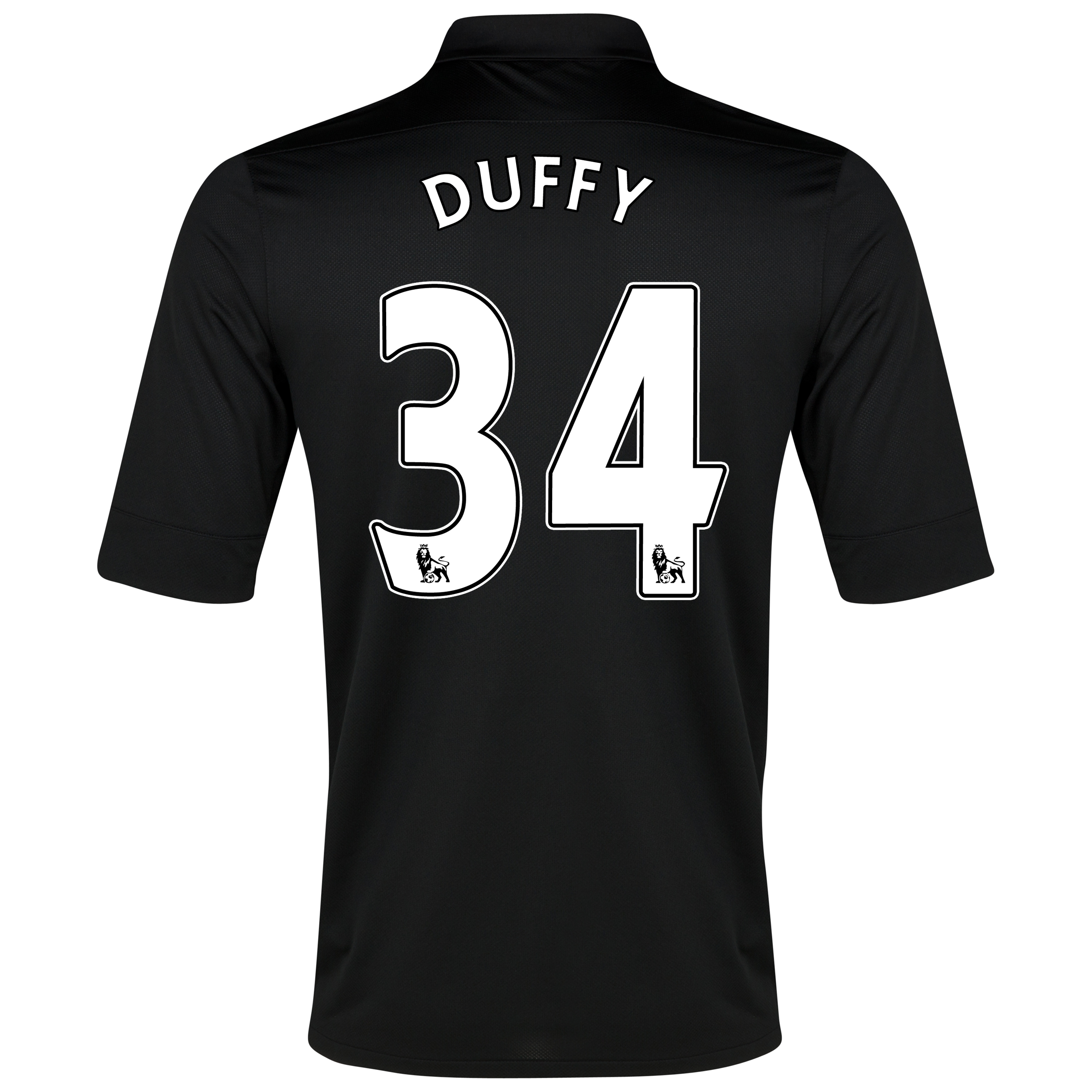 Everton Away Shirt 2012/13 with Duffy 34 printing