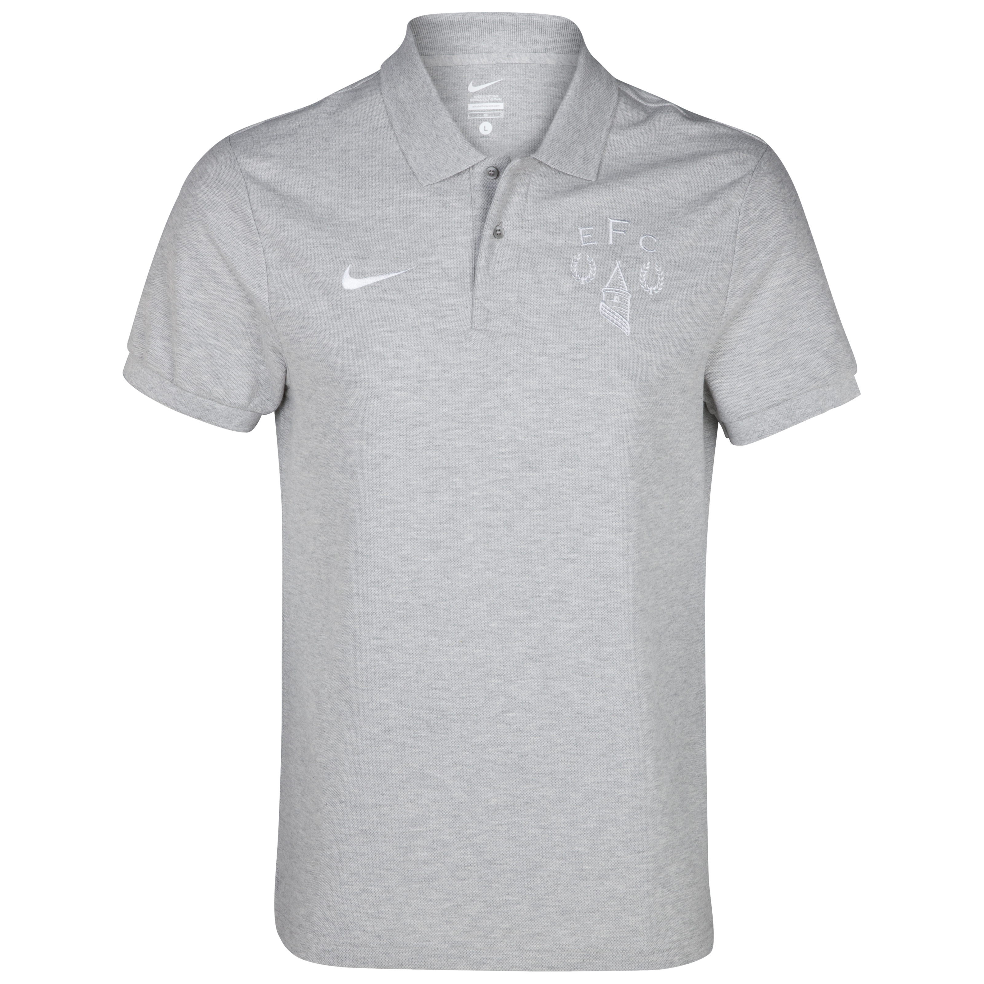Everton Heritage Polo Shirt - Grey Heather/White