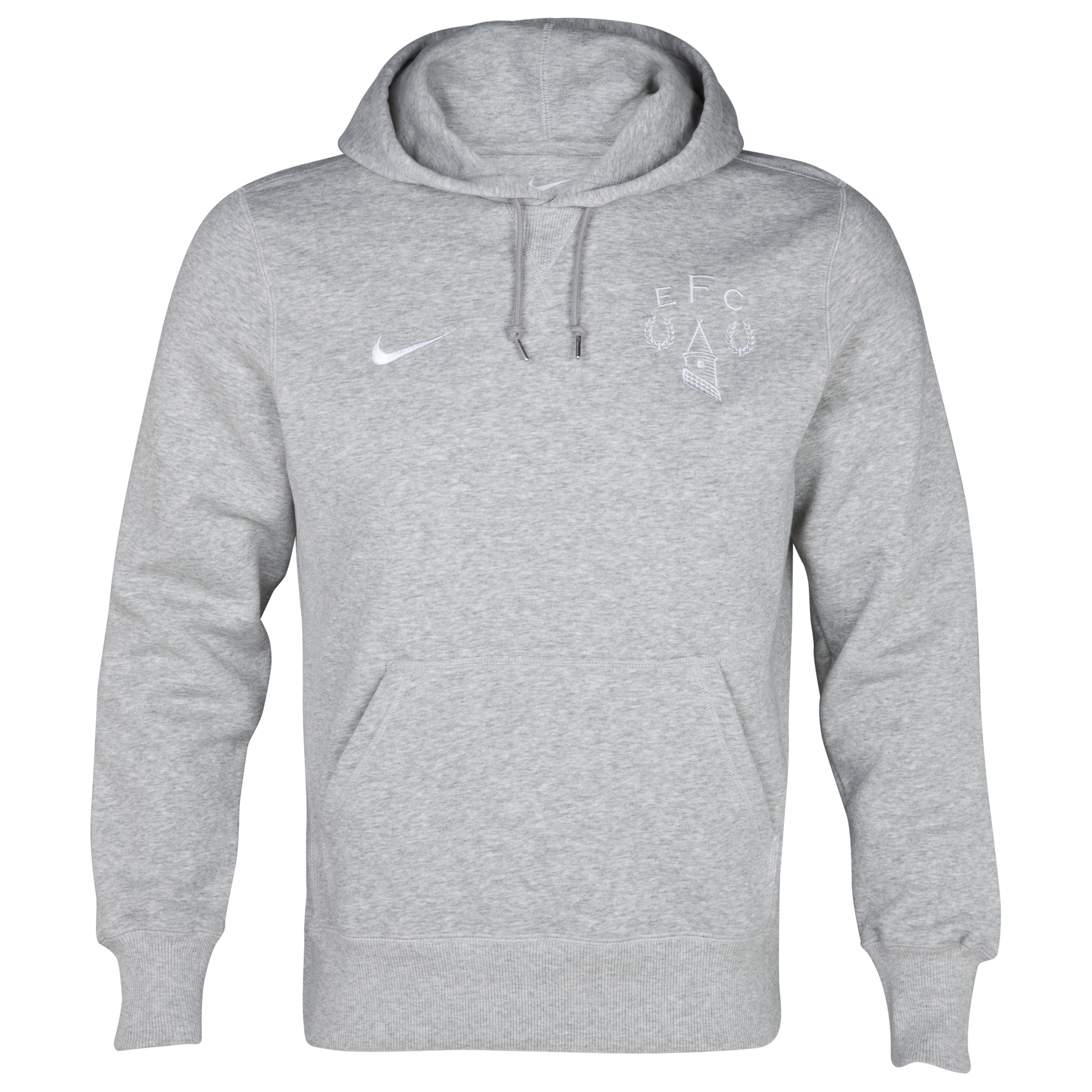 Everton Heritage Fleece Hoodie - Grey Heather/White