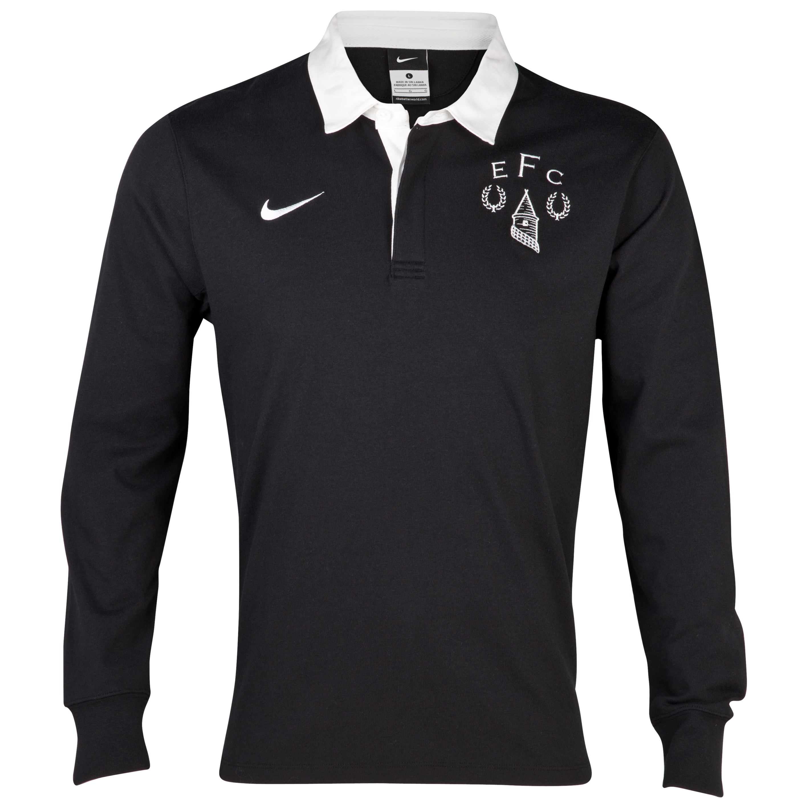 Everton Heritage Rugby Shirt - Black/White