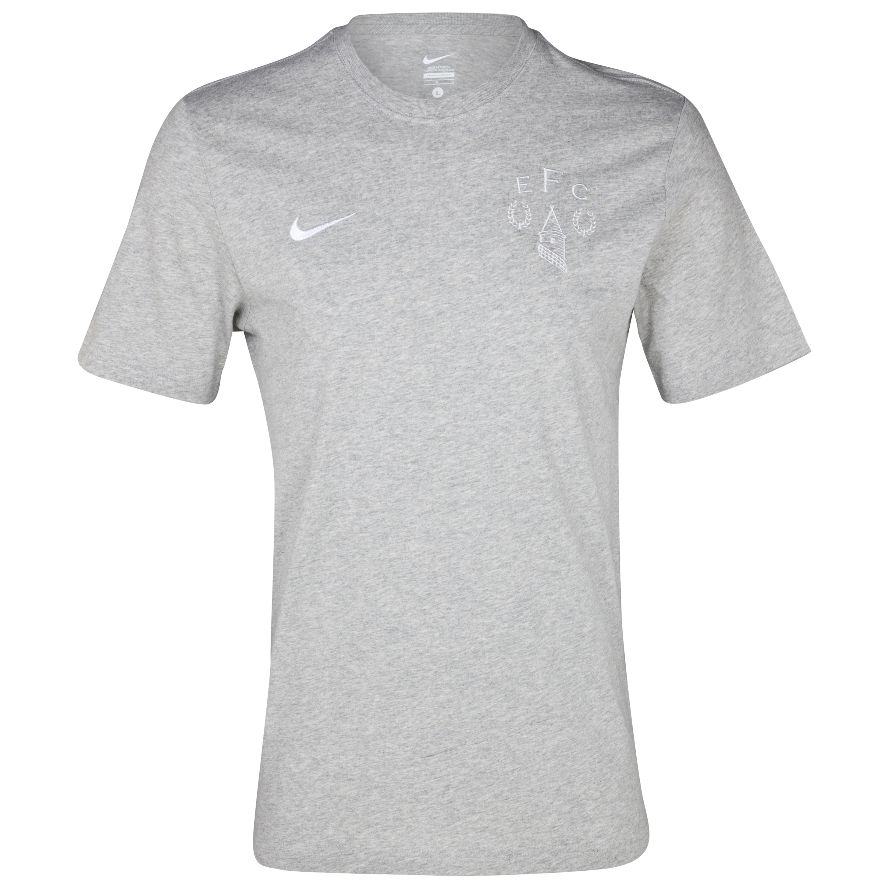 Everton Heritage T-Shirt - Junior - Grey Heather/White