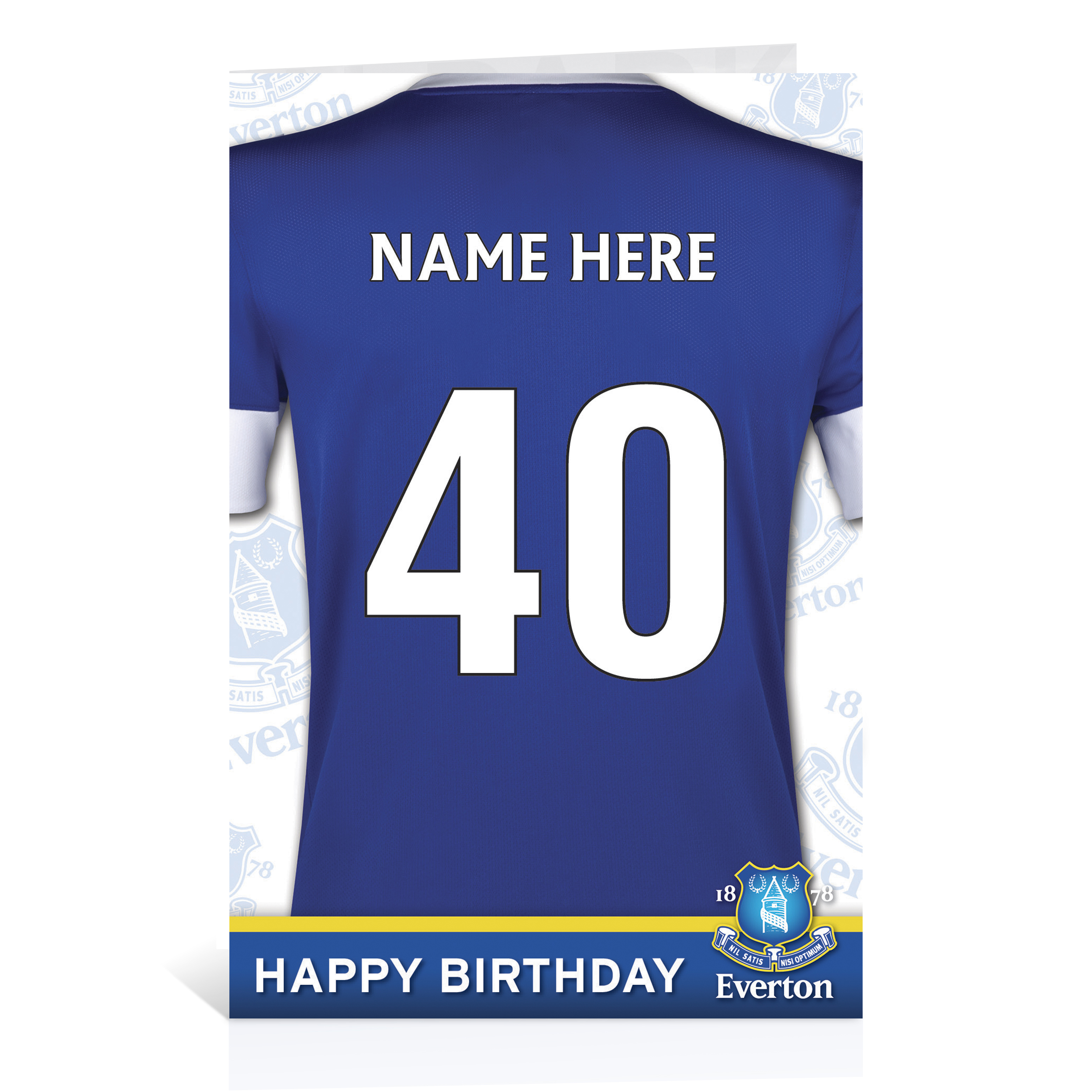 Everton Personalised Shirt Birthday Card