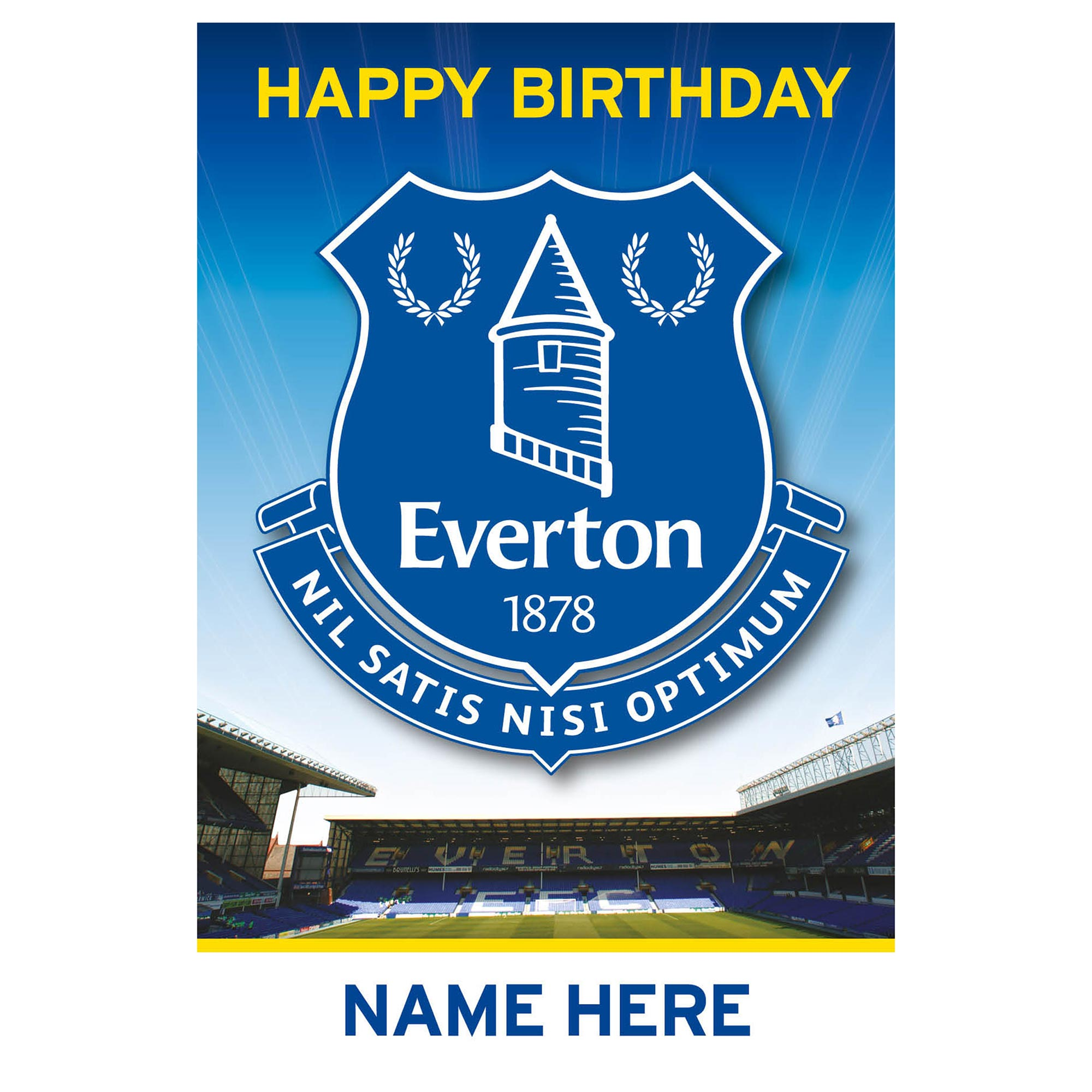 Everton Personalised Happy Birthday Card - Crest