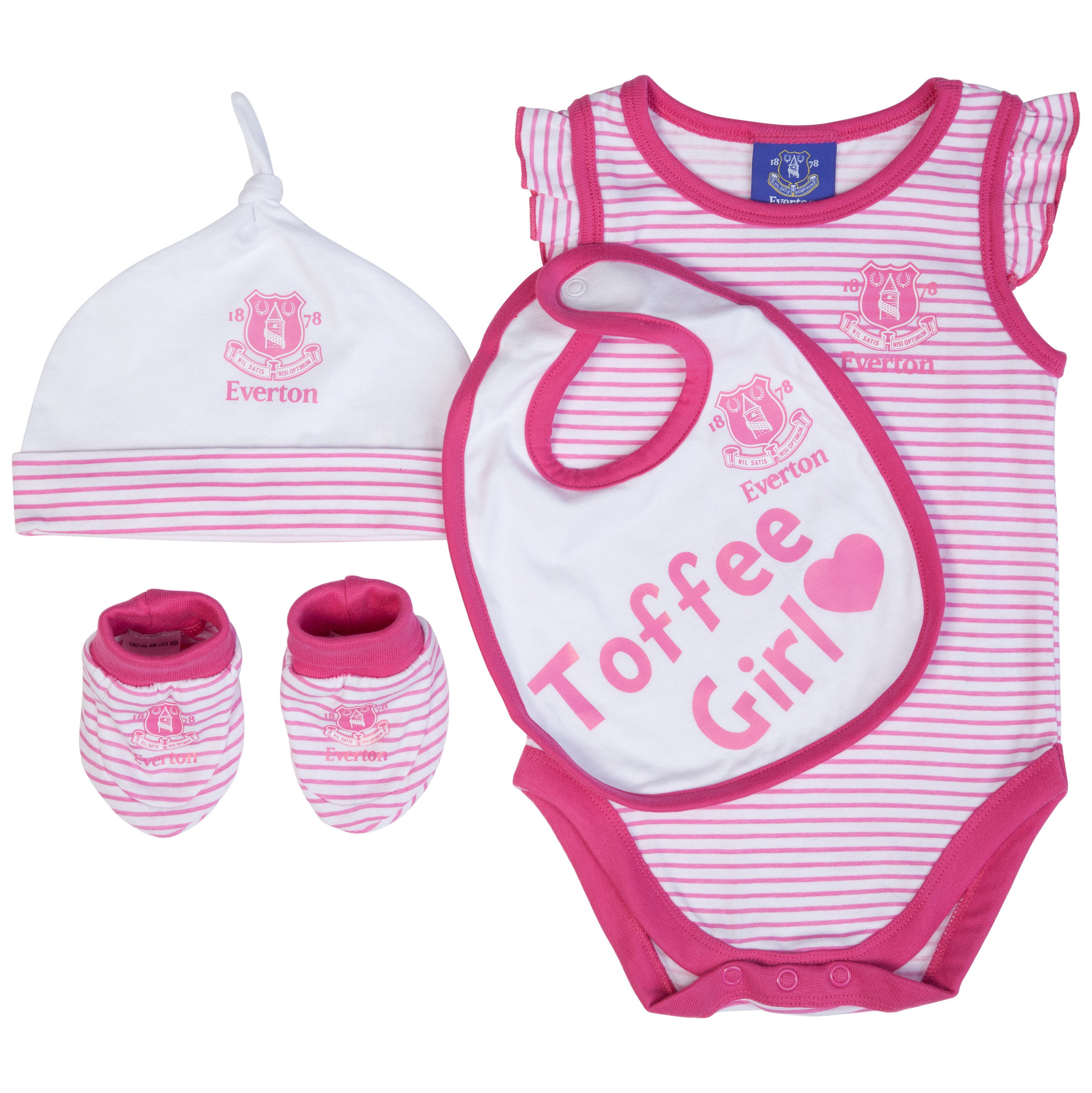 Everton 4 piece Gift Set - Pink/White - Baby