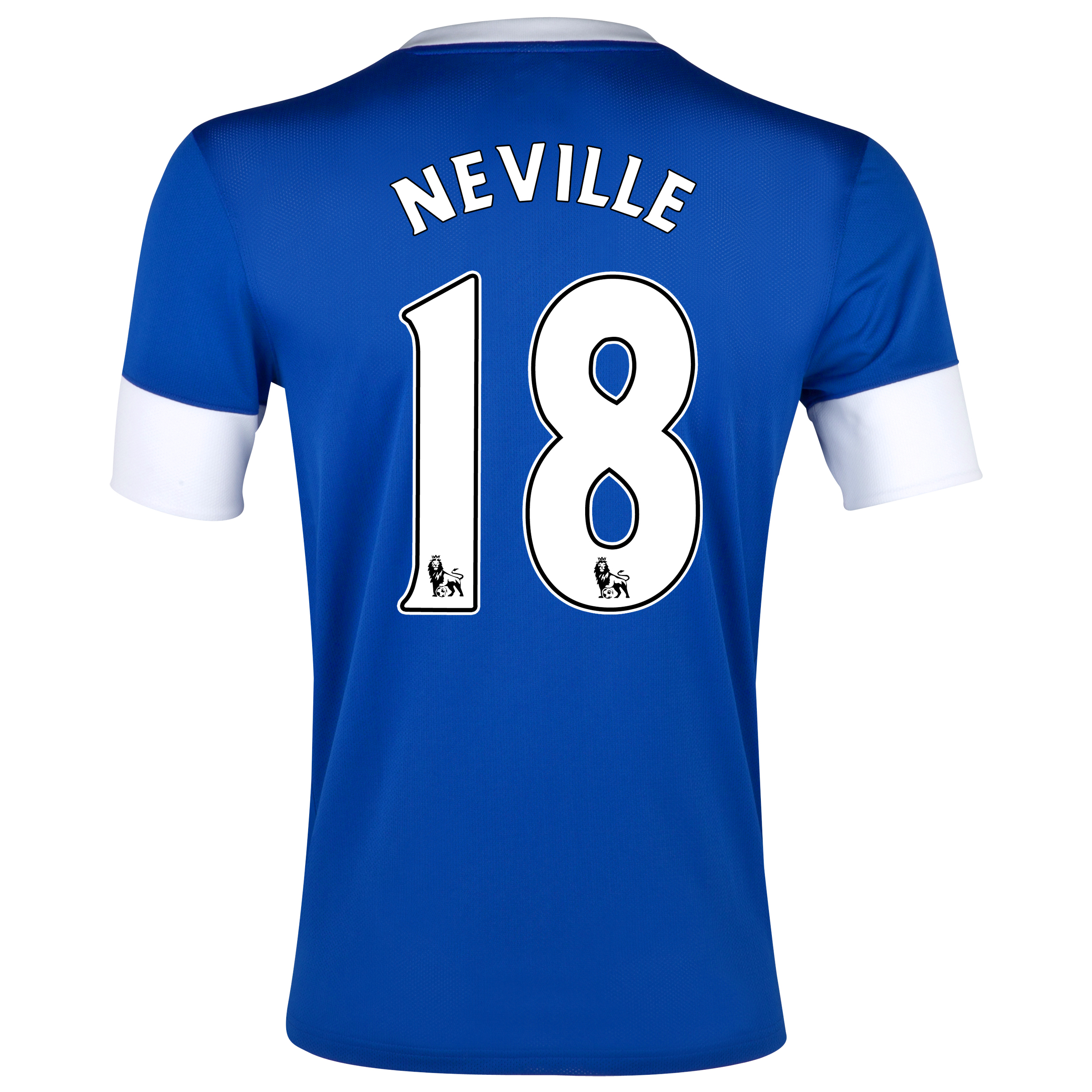 Everton Home Shirt 2012/13 with Neville 18 printing
