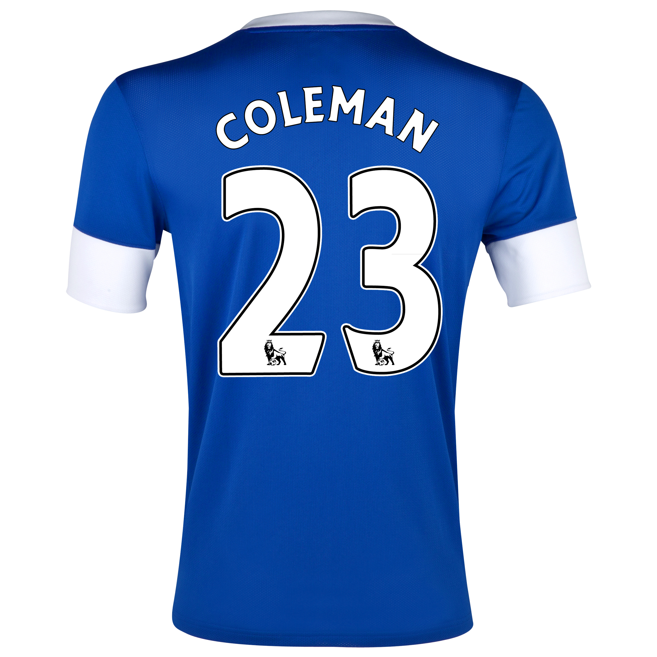 Everton Home Shirt 2012/13 with Coleman 23 printing