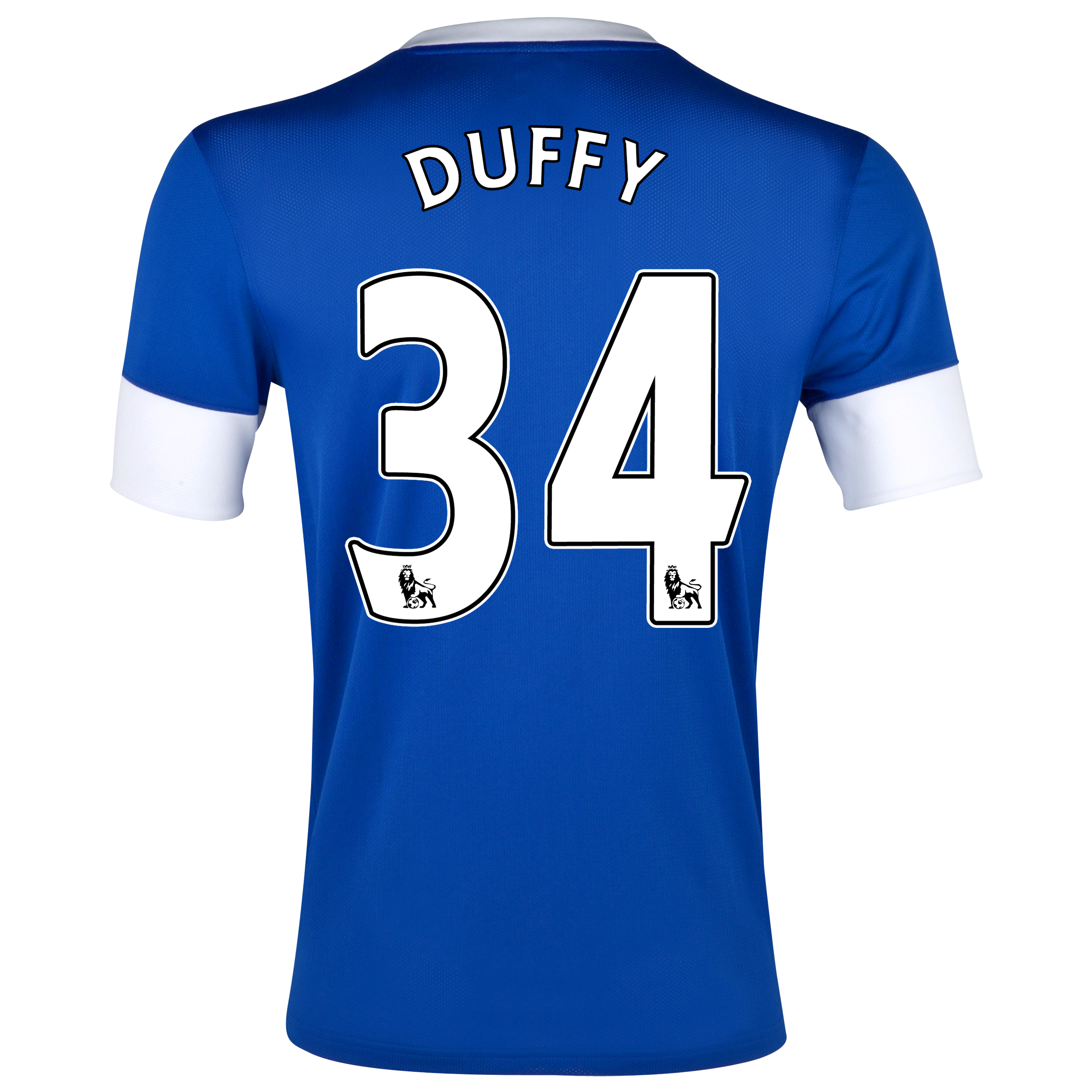 Everton Home Shirt 2012/13 with Duffy 34 printing