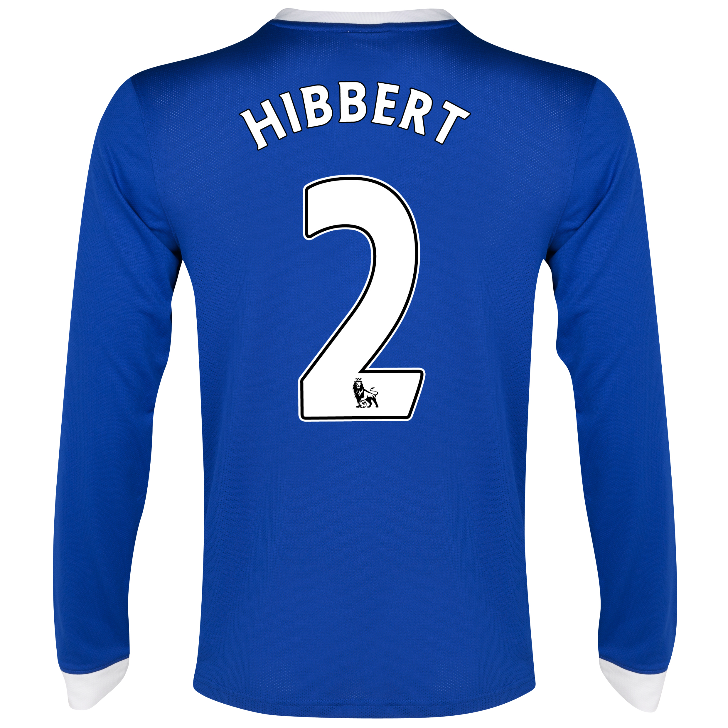 Everton Home Shirt 2012/13 - Long Sleeved with Hibbert 2 printing