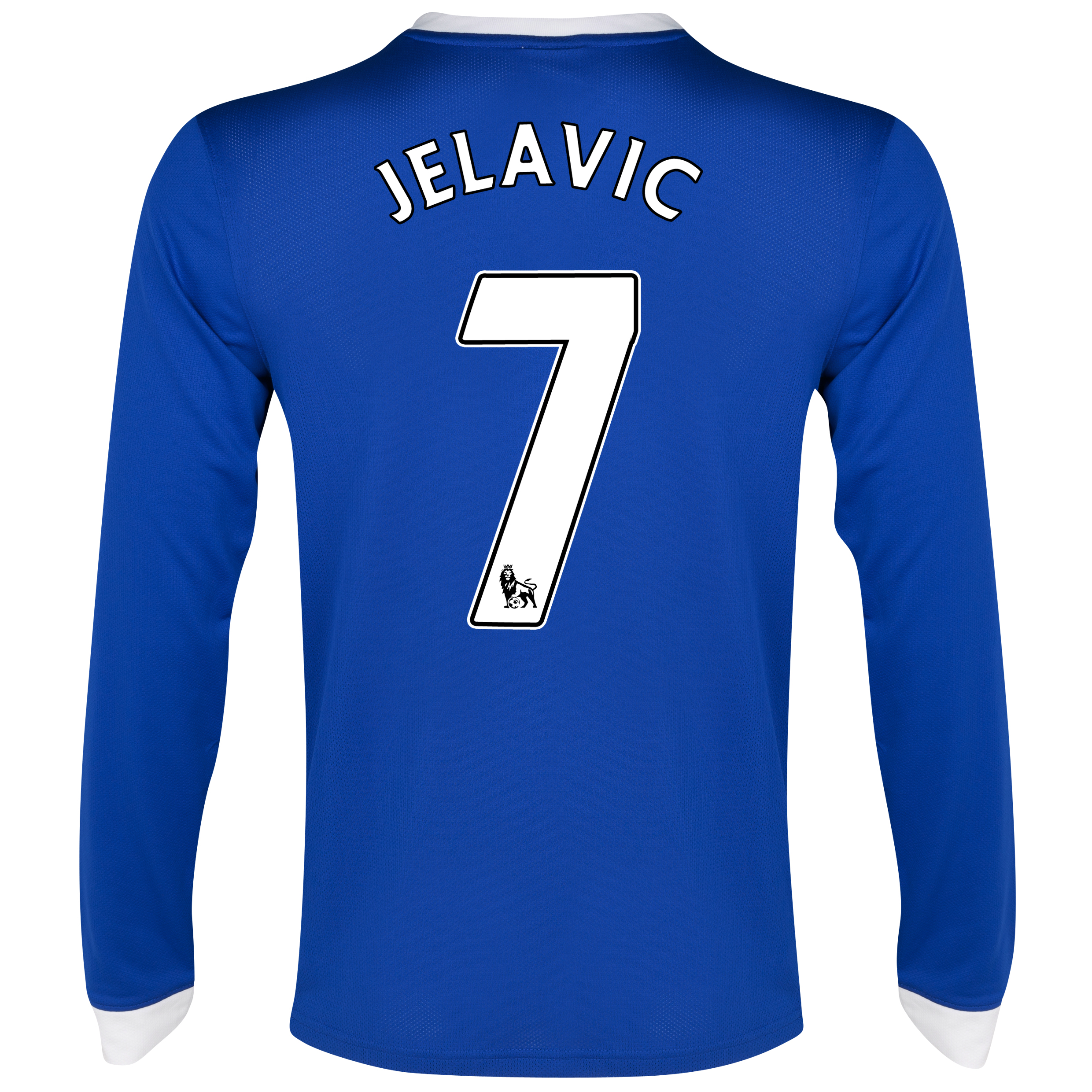 Everton Home Shirt 2012/13 - Long Sleeved with Jelavic 7 printing