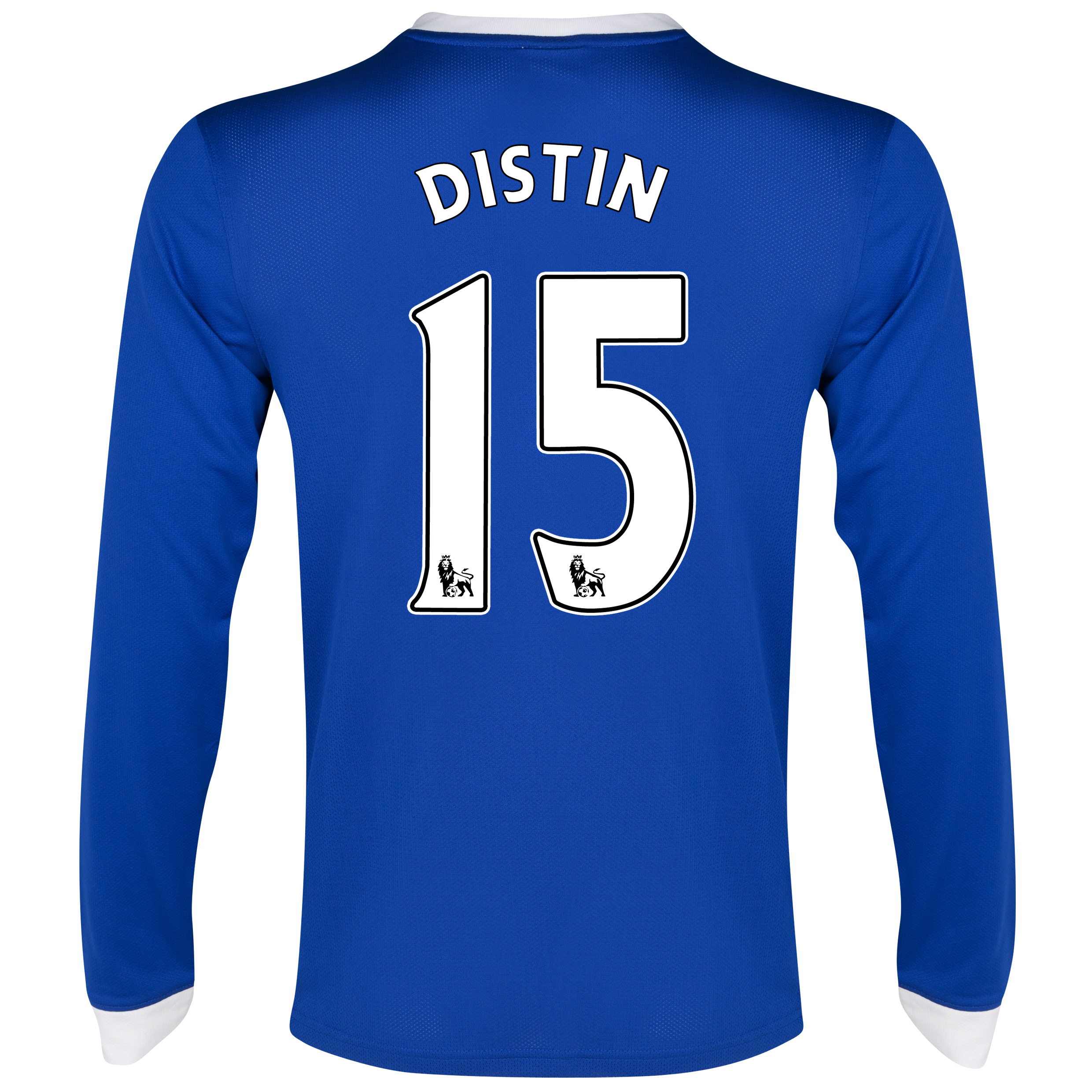 Everton Home Shirt 2012/13 - Long Sleeved with Distin 15 printing