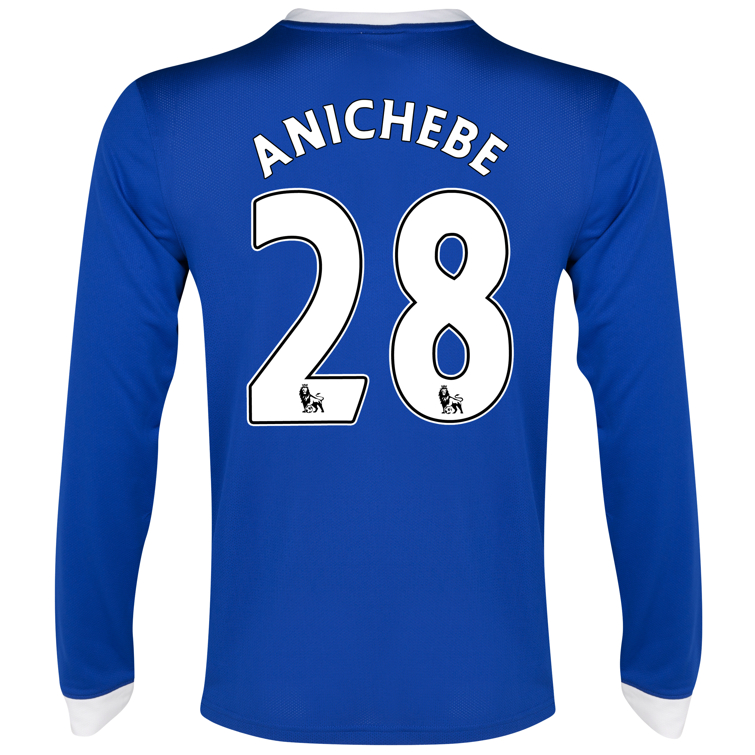 Everton Home Shirt 2012/13 - Long Sleeved with Anichebe 28 printing