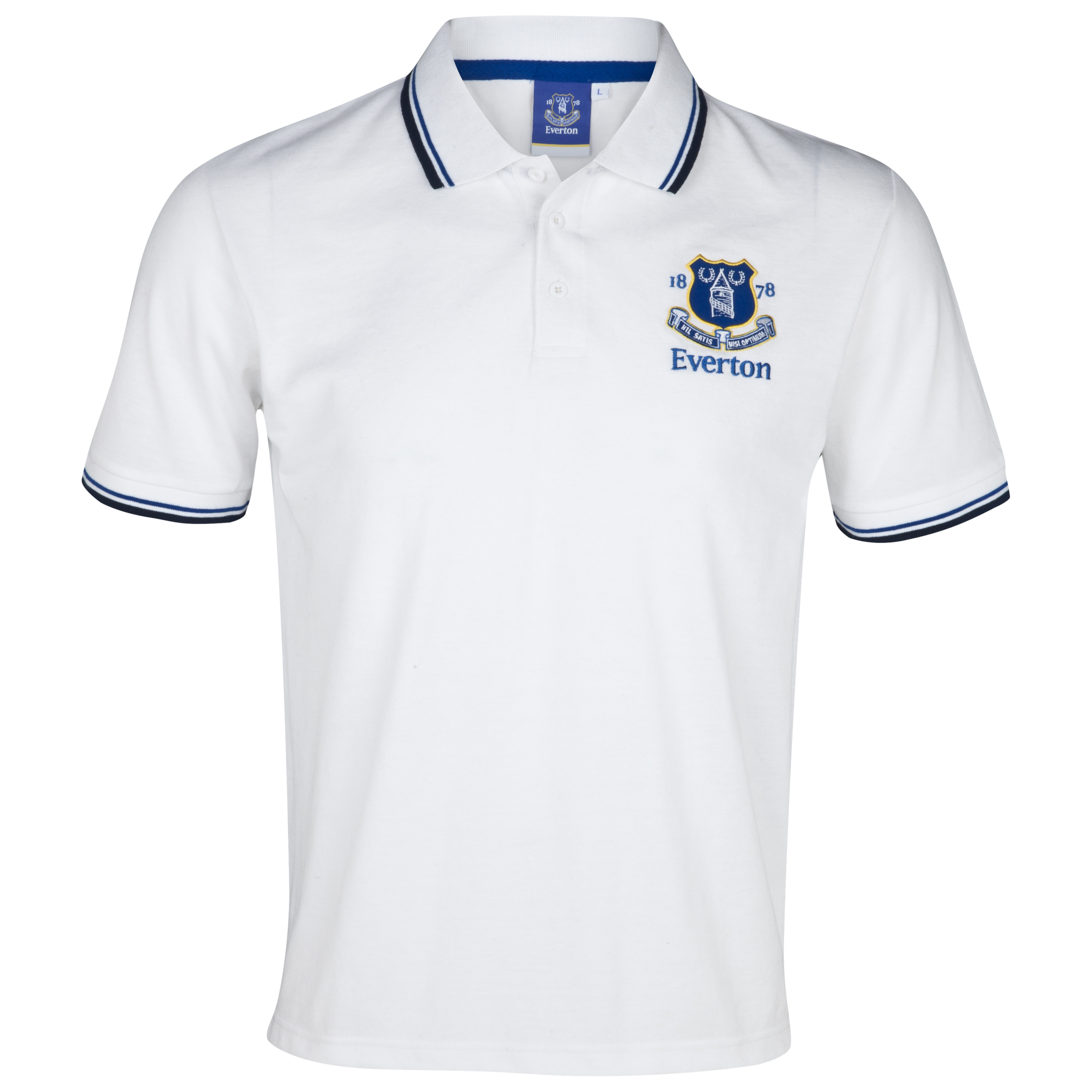 Everton Essentials Park Polo Top - White