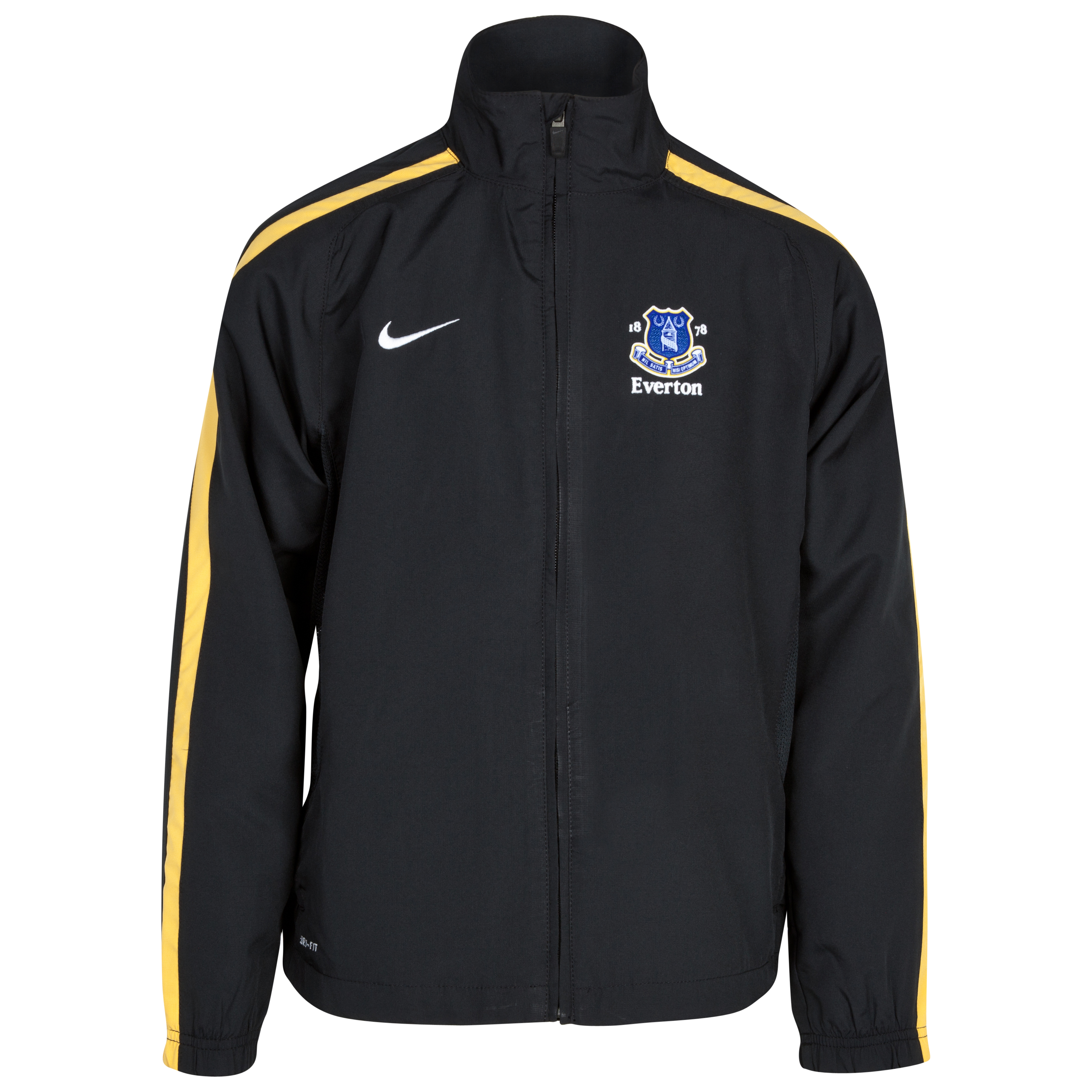 Everton Woven Warm Up Jacket - Black/Varsity Maize/White